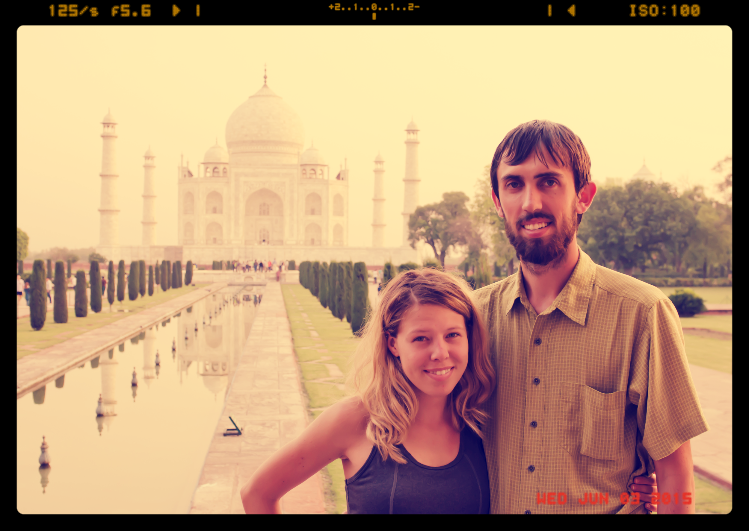 Experiencing the Taj Mahal for the first time