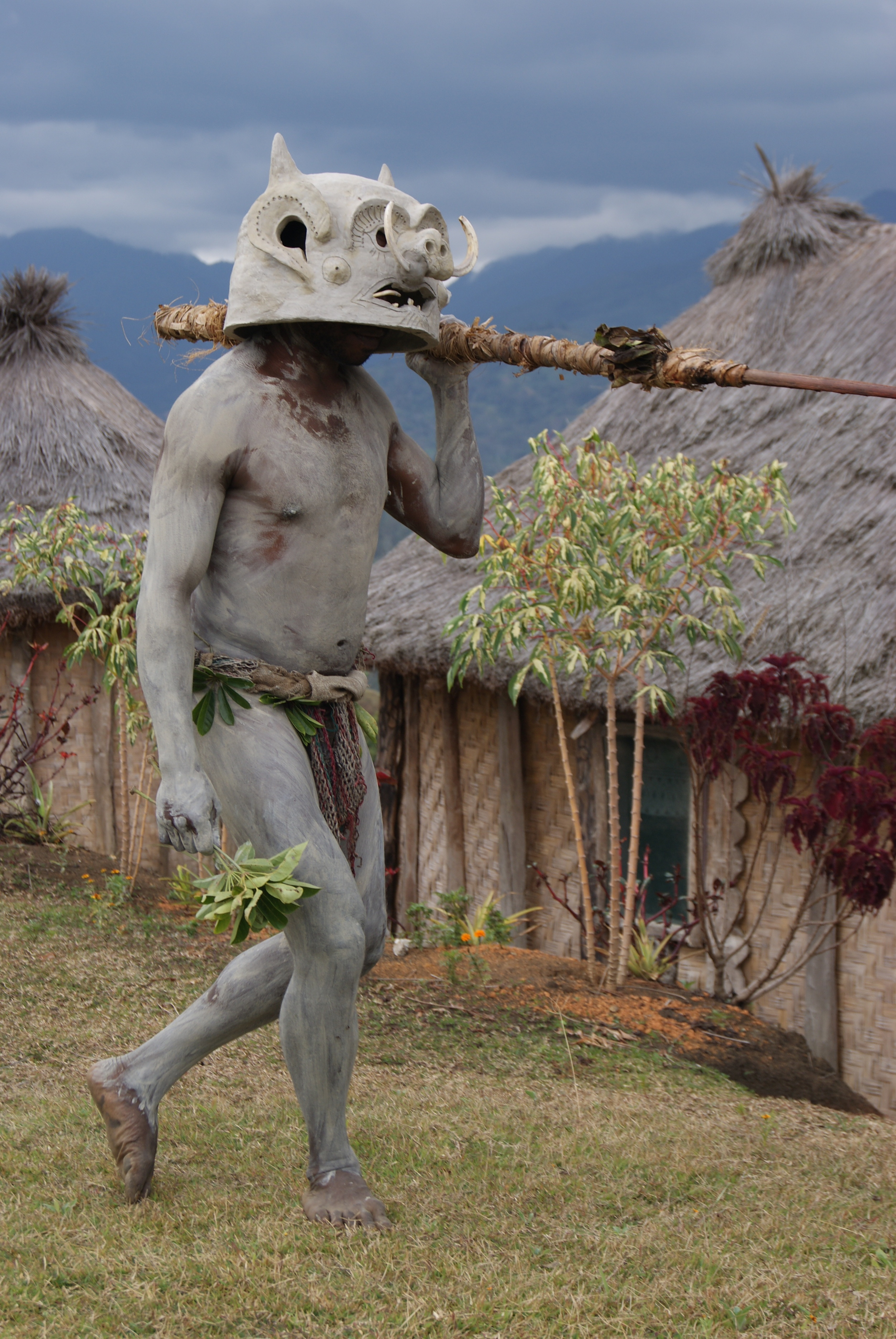 The famous Asaro Mudmen - originally introduced to the world by National Geographic