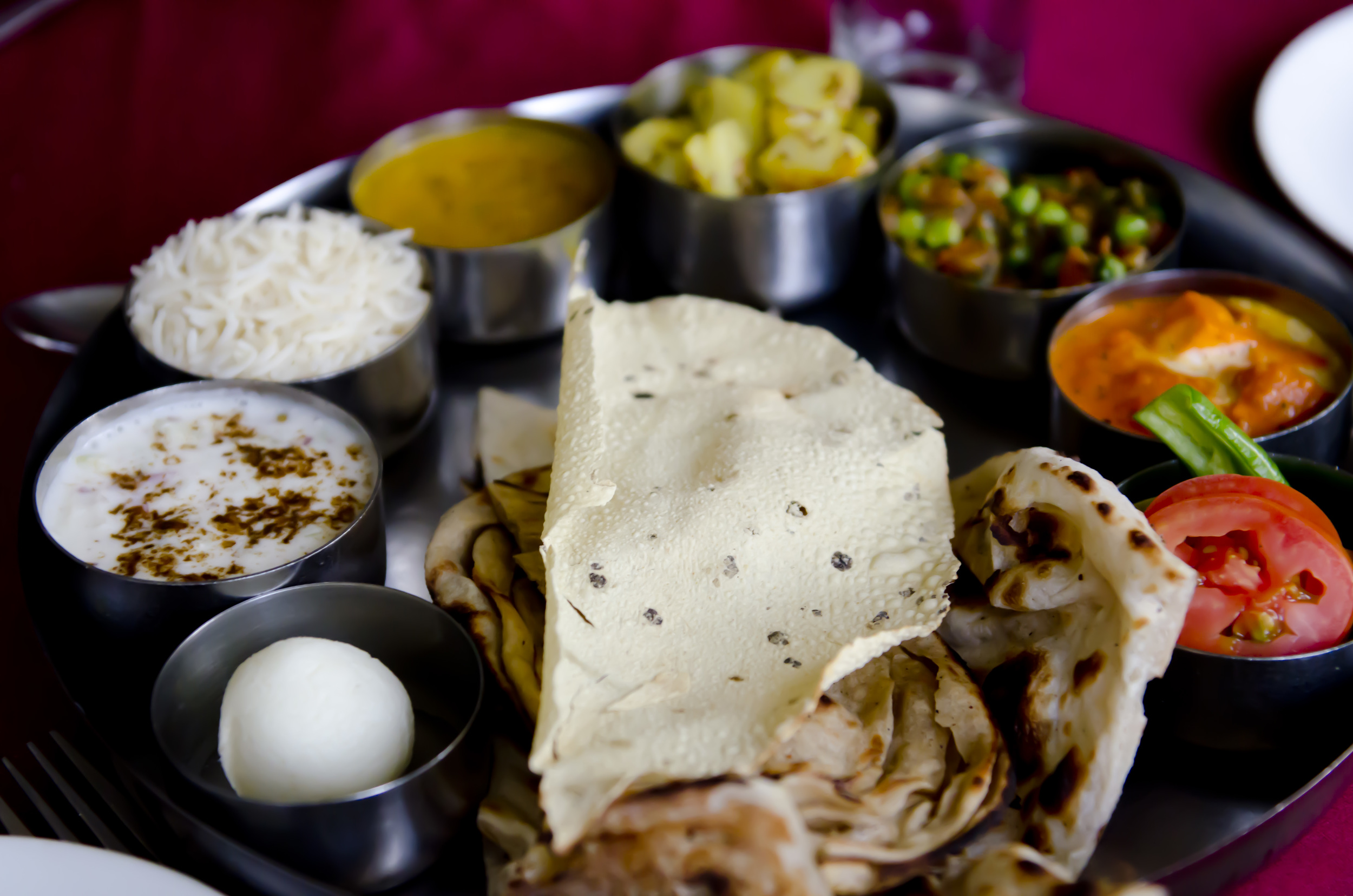 One of the lovely thalis I ate while in India