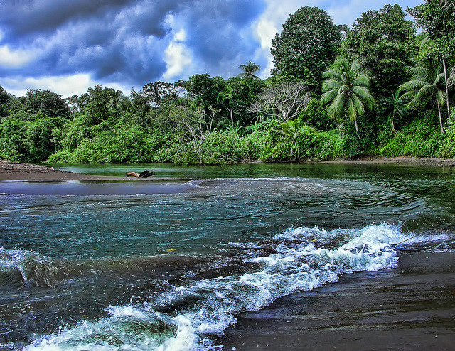 Rio Aguajitas, Costa Rica via Flickr Creative Commons copyright Trish Hartmann