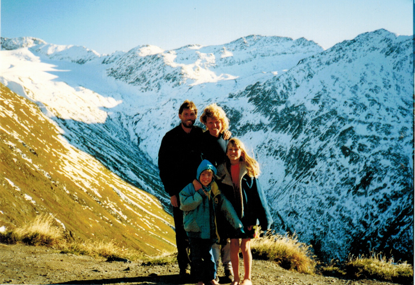 My crazy and awesome family in the Alps