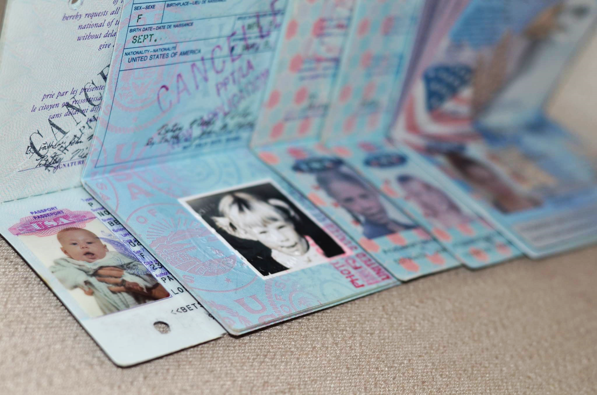 My five passports