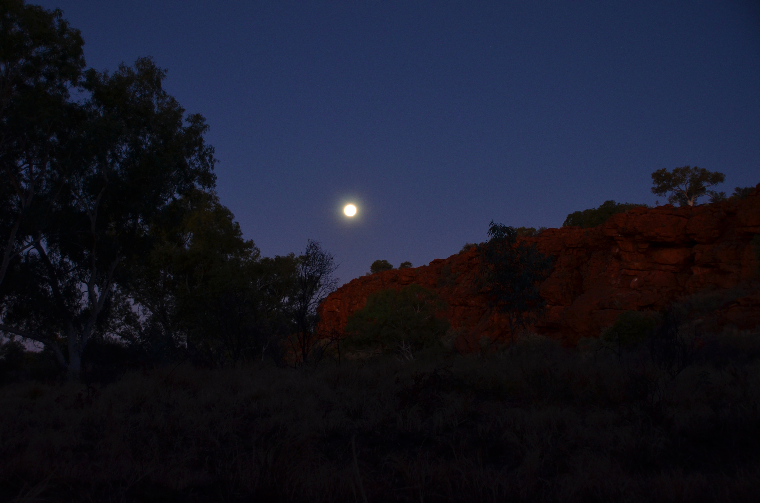 Moonrise over Durba Hills