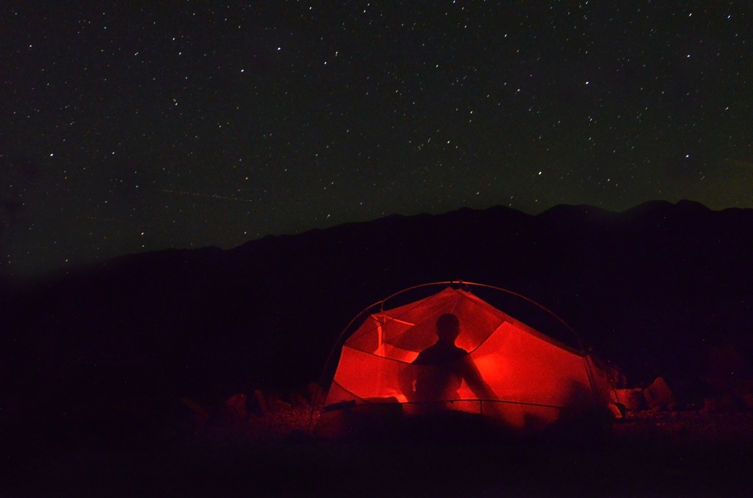 Using our Fly Creek UL3 tent in Death Valley National Park
