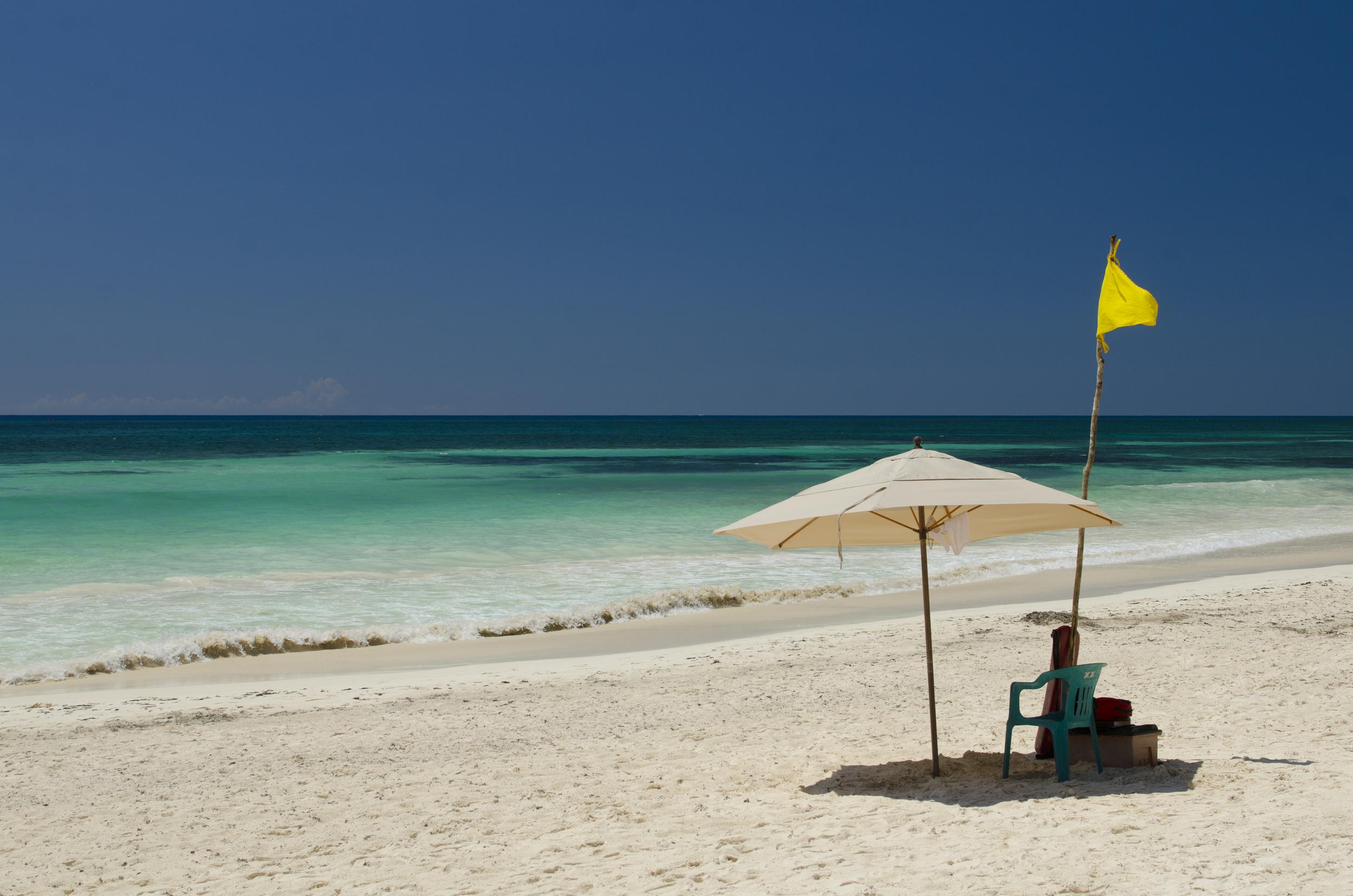 That pristine beach...