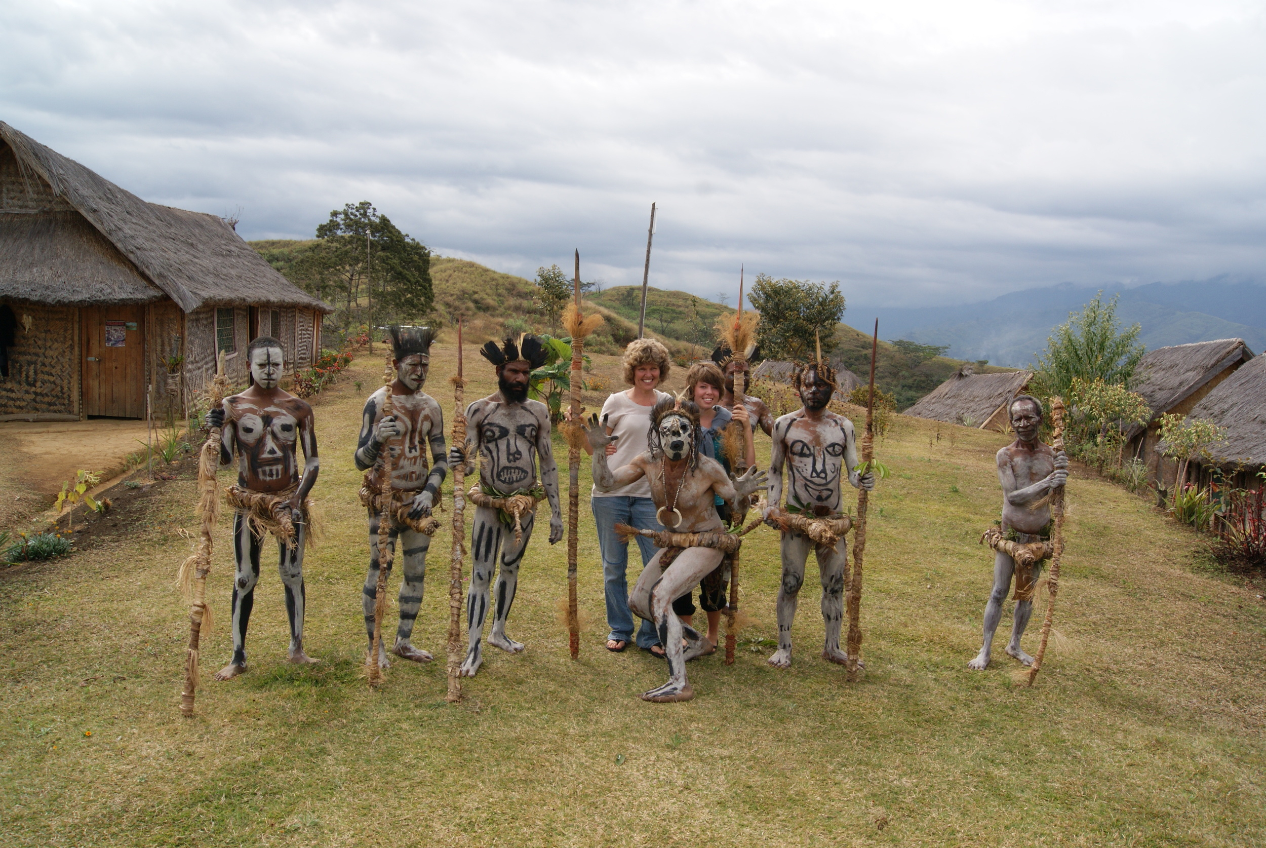 My mum and I with the Mudmen