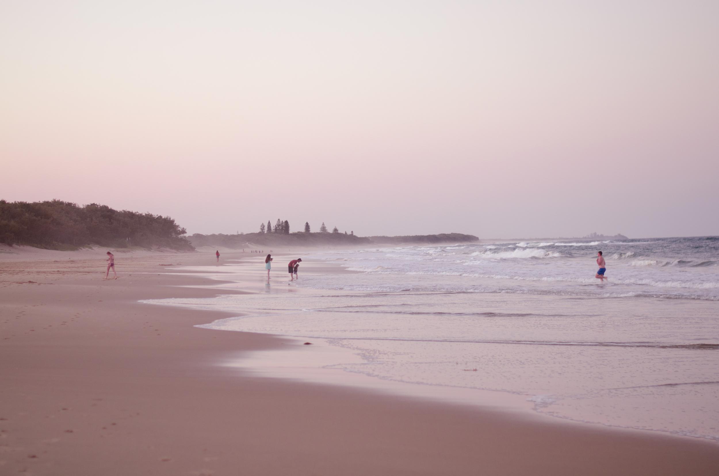 Sunset over Dicky Beach
