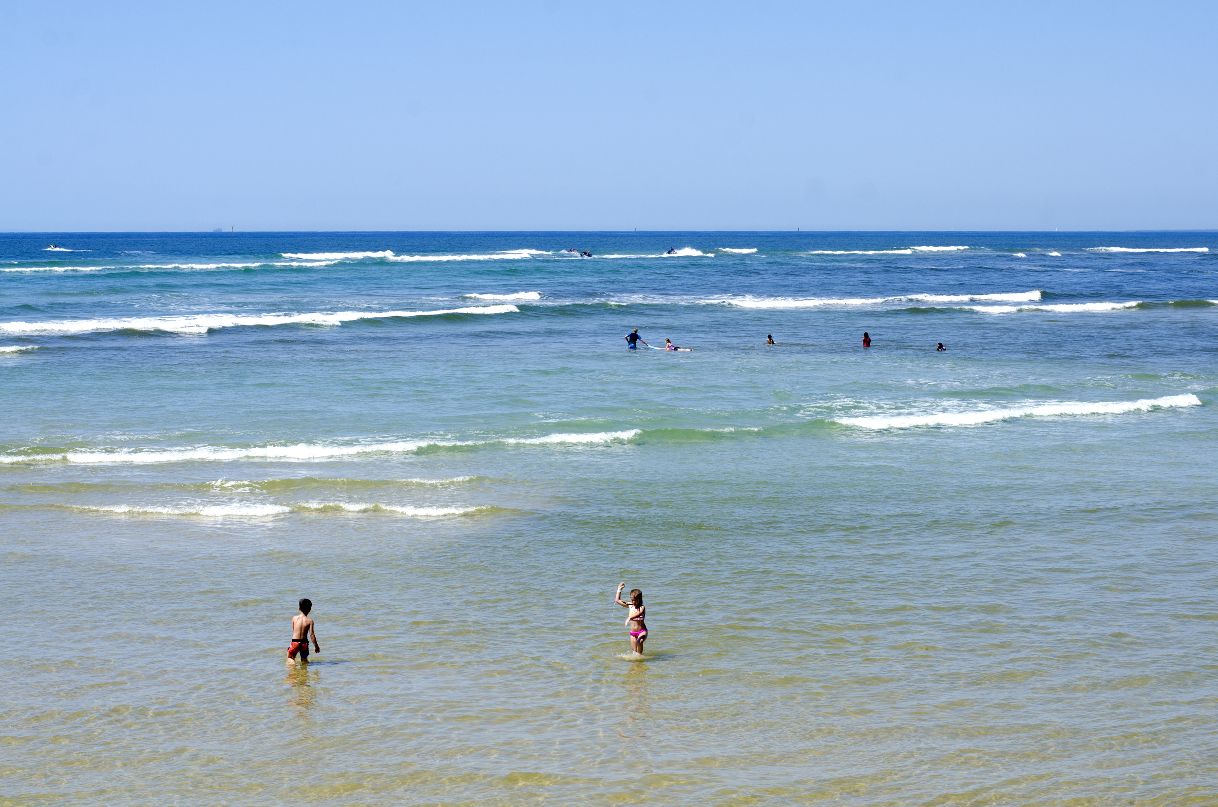 Like Currumbin,Caloundra had some great calm, shallow areas perfect for kids