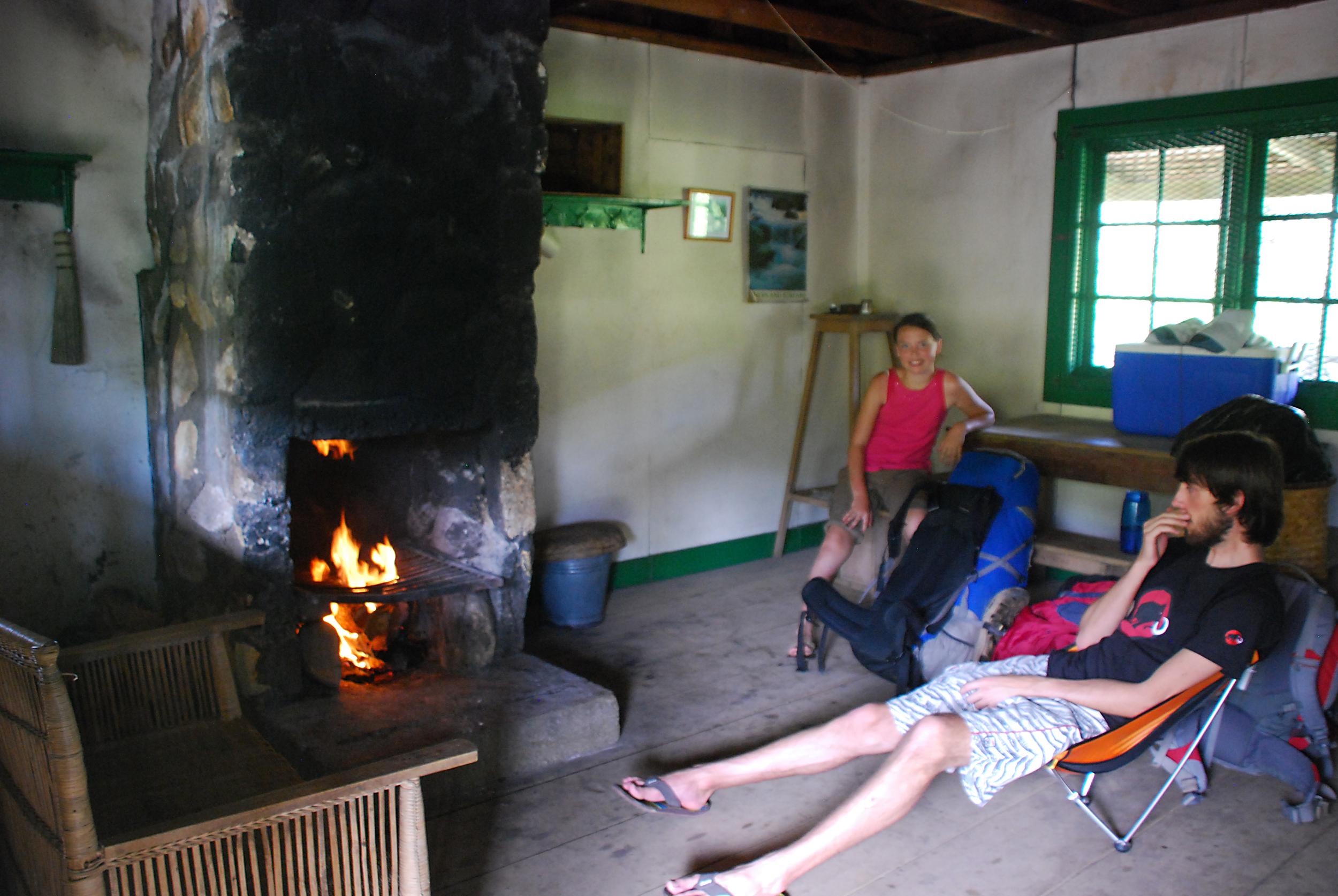 Inside the Madzeka hut