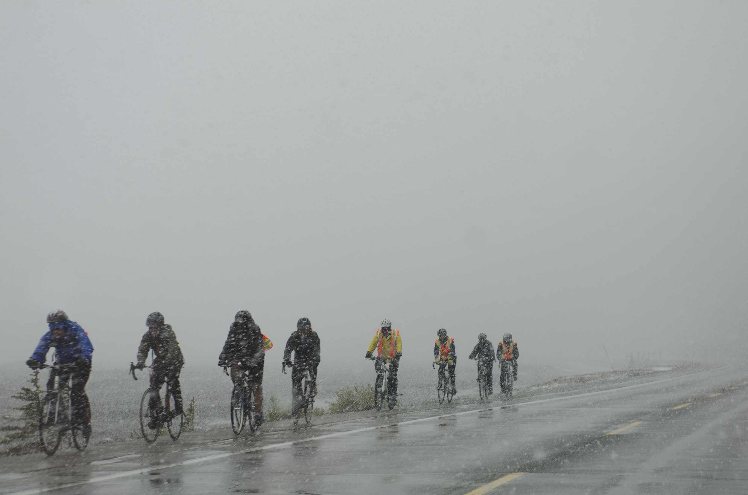 Can we all just agree that these are some pretty hardcore cyclists?!