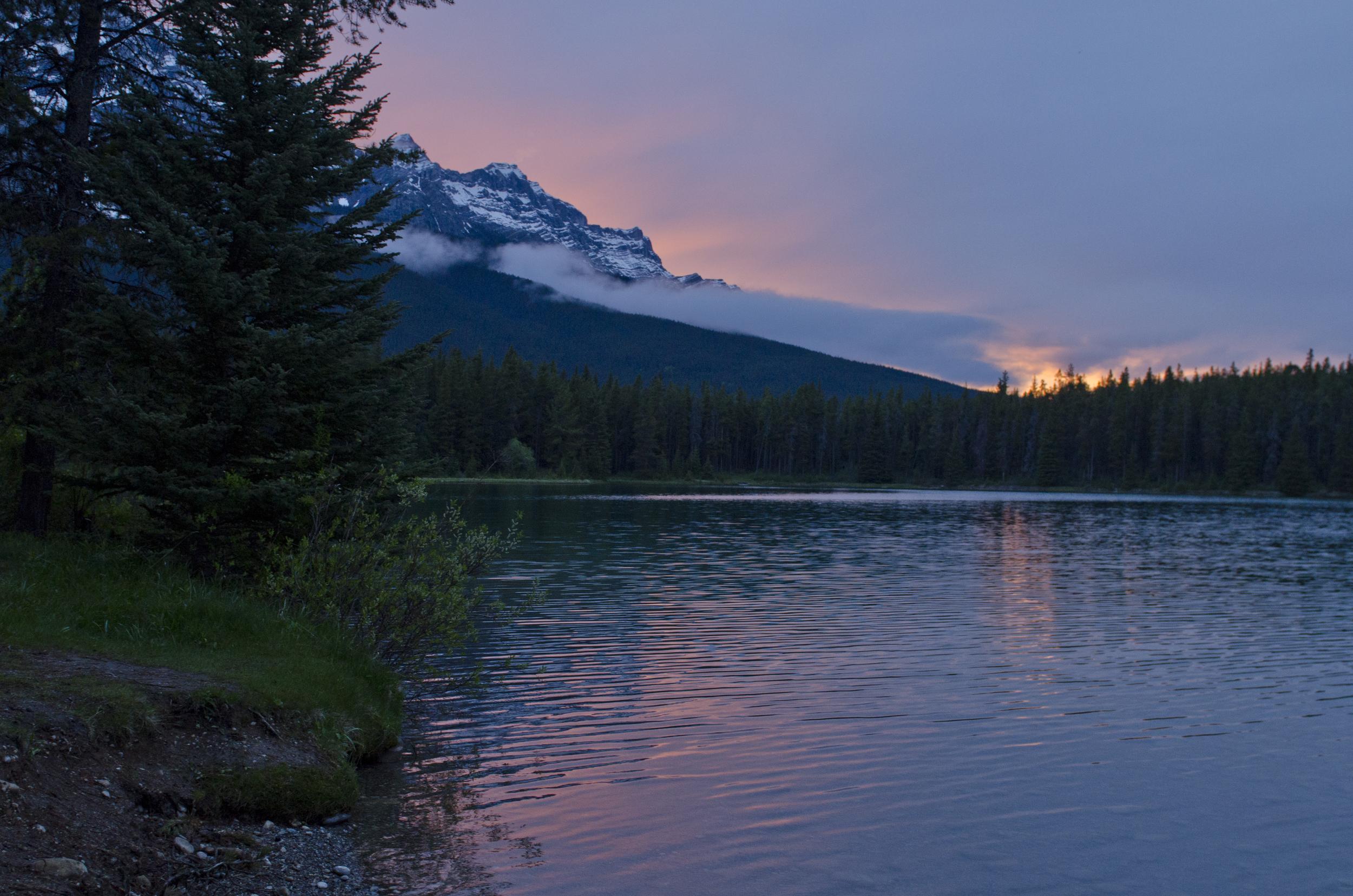 Sunset over Two Jack Lake