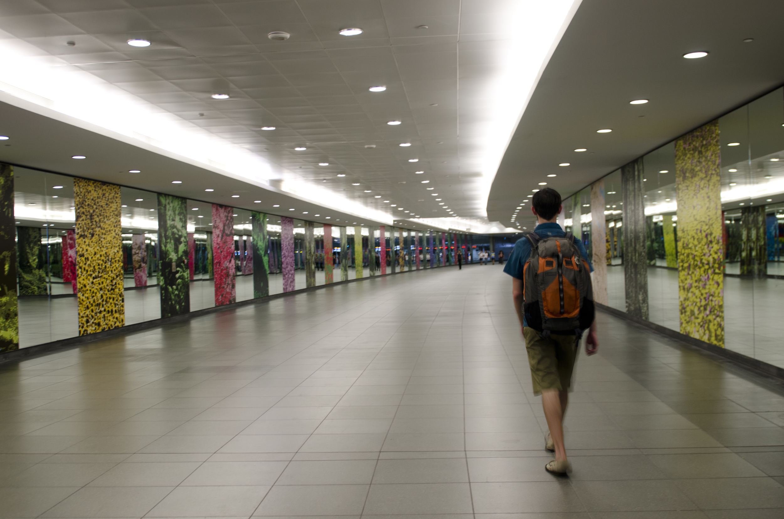 Inside one of the spotless (and spacious) MRT stations