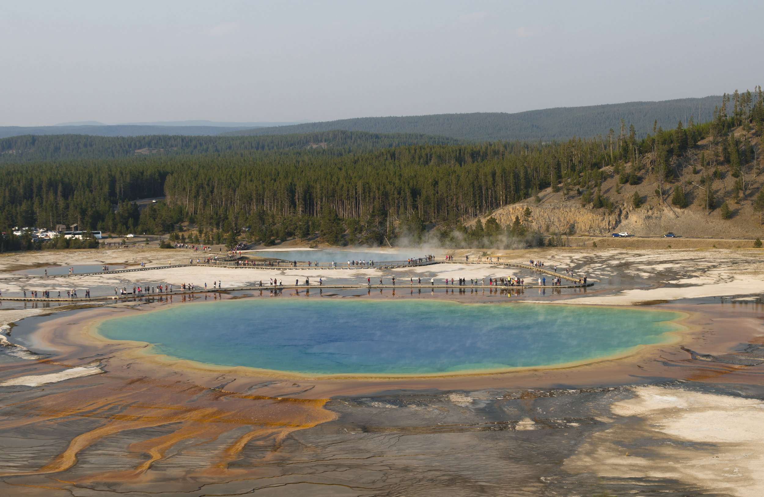 Grand Prismatic Spring from the Fairy Falls trail viewpoint