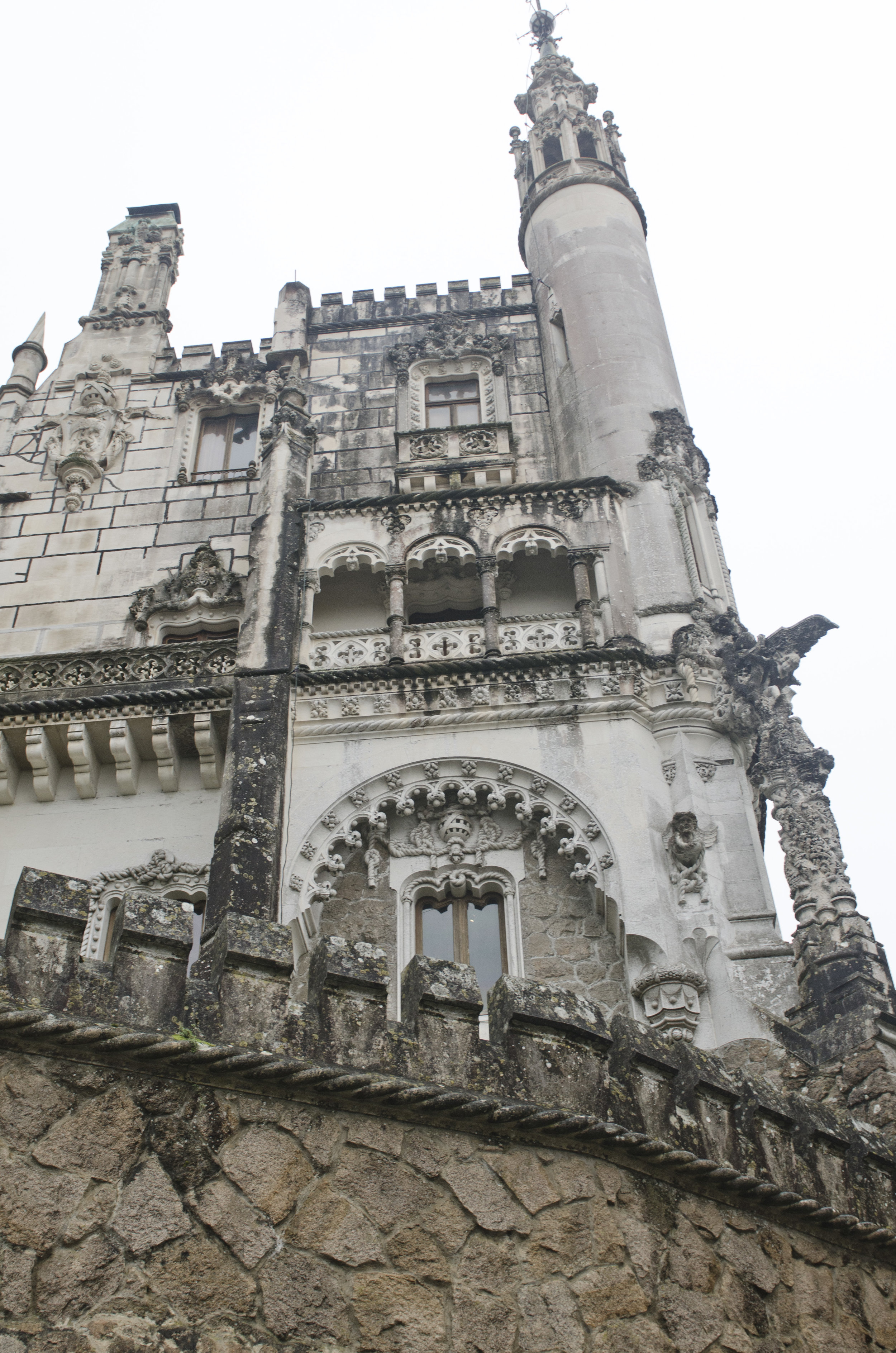 Our first glimpse of Quinta da Regaleira from the road