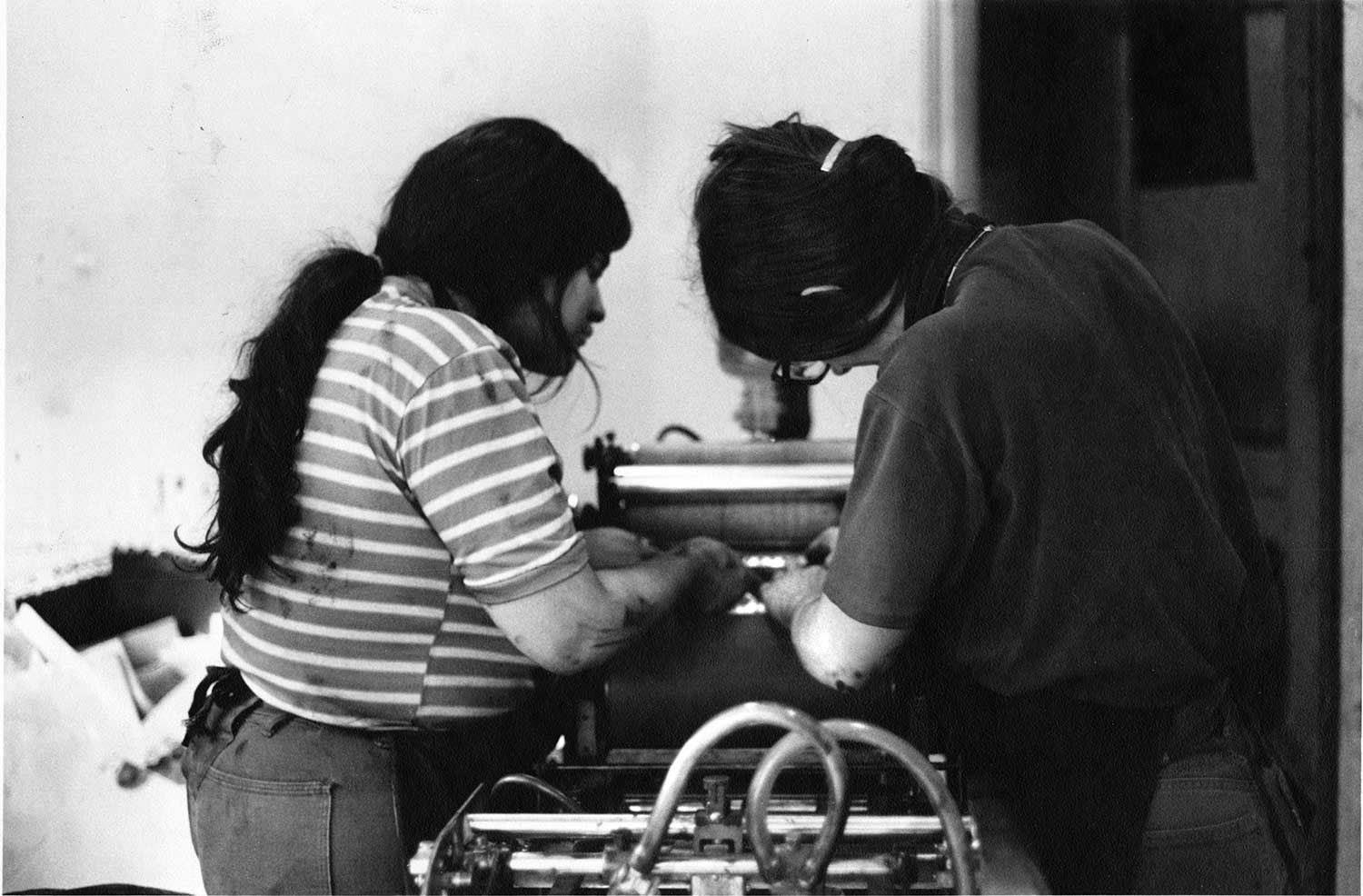 Judy and Margaret printing