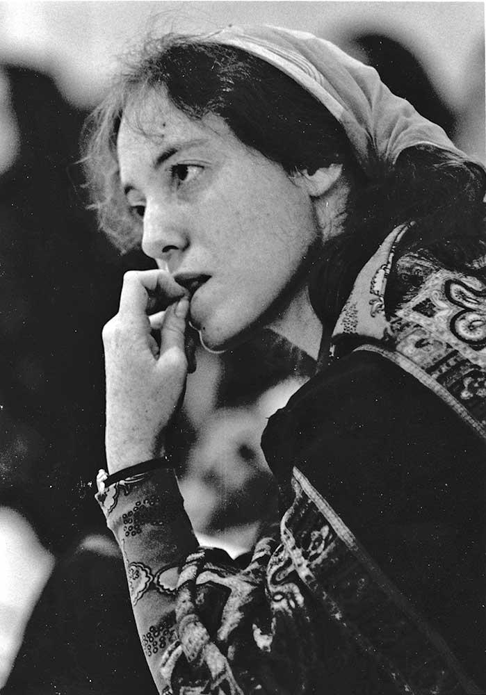 Estelle in a pensive mood, 1974