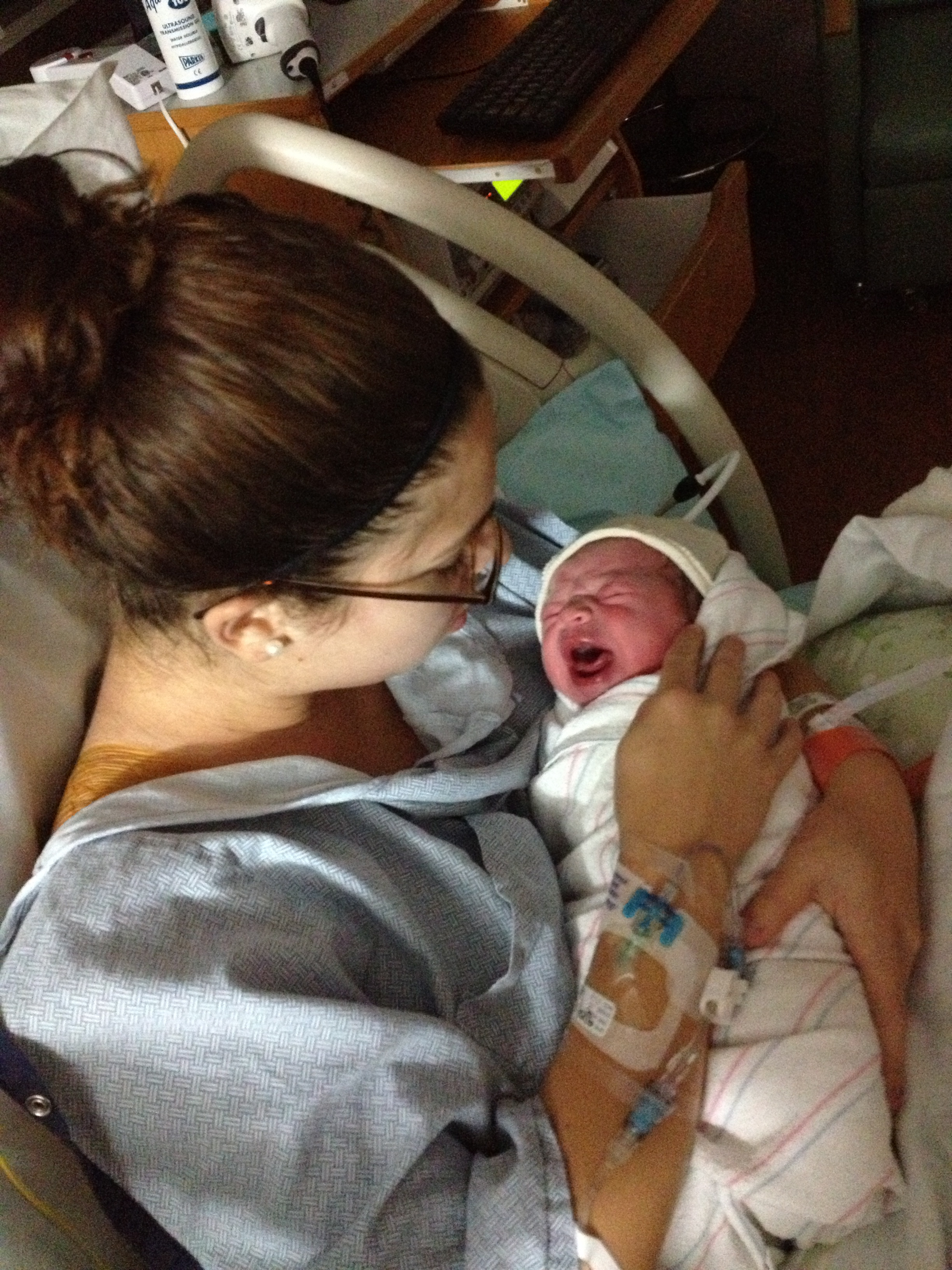 The moment when I looked down at my perfect baby and felt...absolutely nothing. The moment when...postpartum began.