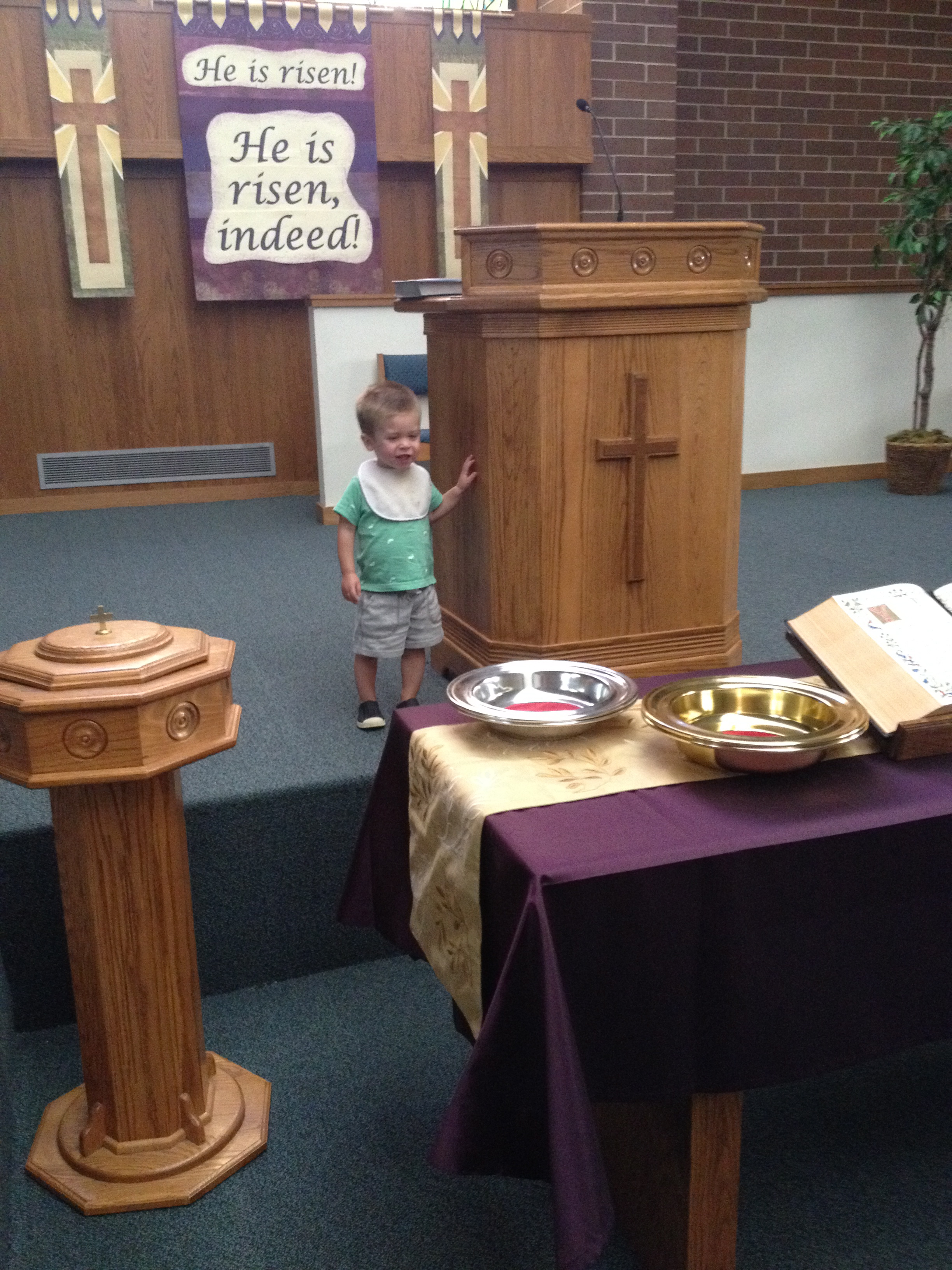 Calvin at Cloverdale United Reformed Church in Idaho where Nick interned last summer.