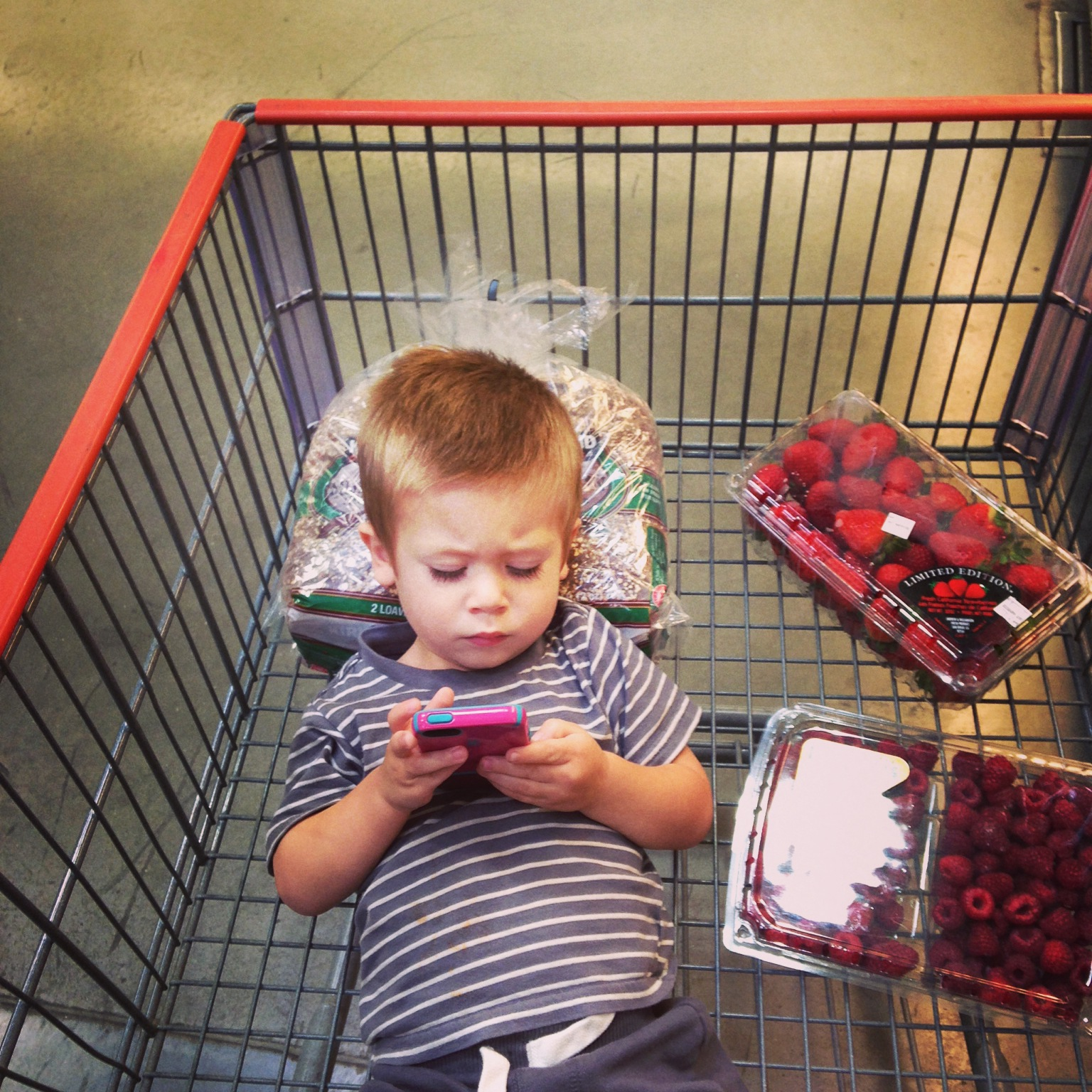 Anything to keep him from napping while doing a little Costco run.