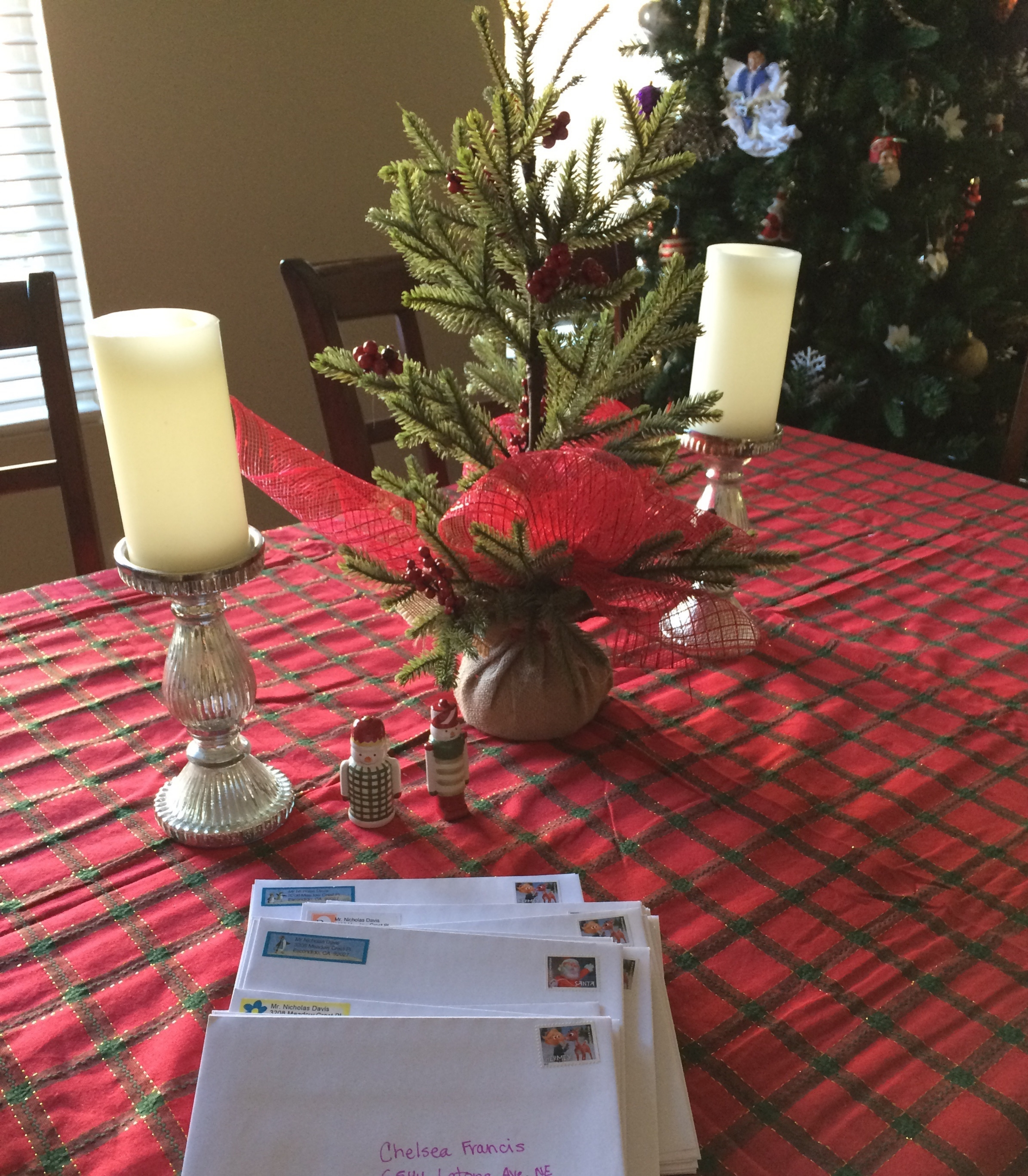 Christmas cards went out today. I can't wait to get some in the mail. I am like a kid.