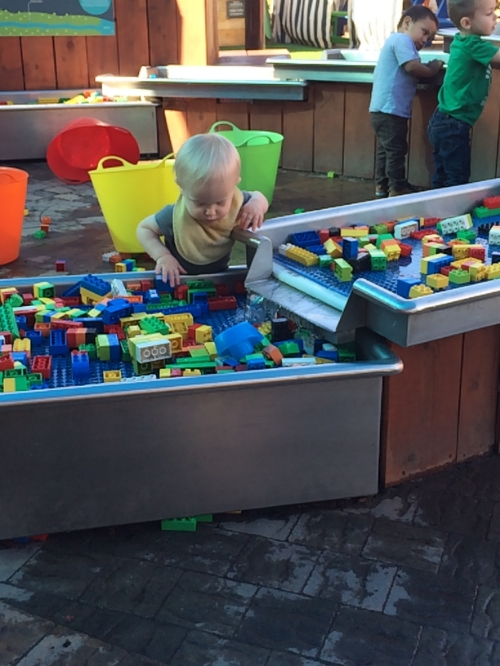 Max loves the Lego water table