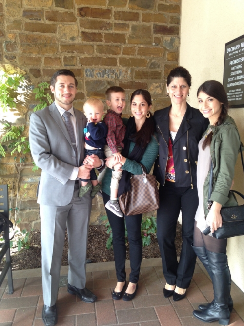 My family after church on Sunday. Thanks for the lunch Mom.