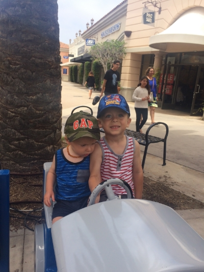 At the Carlsbad outlets where calvin made it very known once again that not everyone speaks english