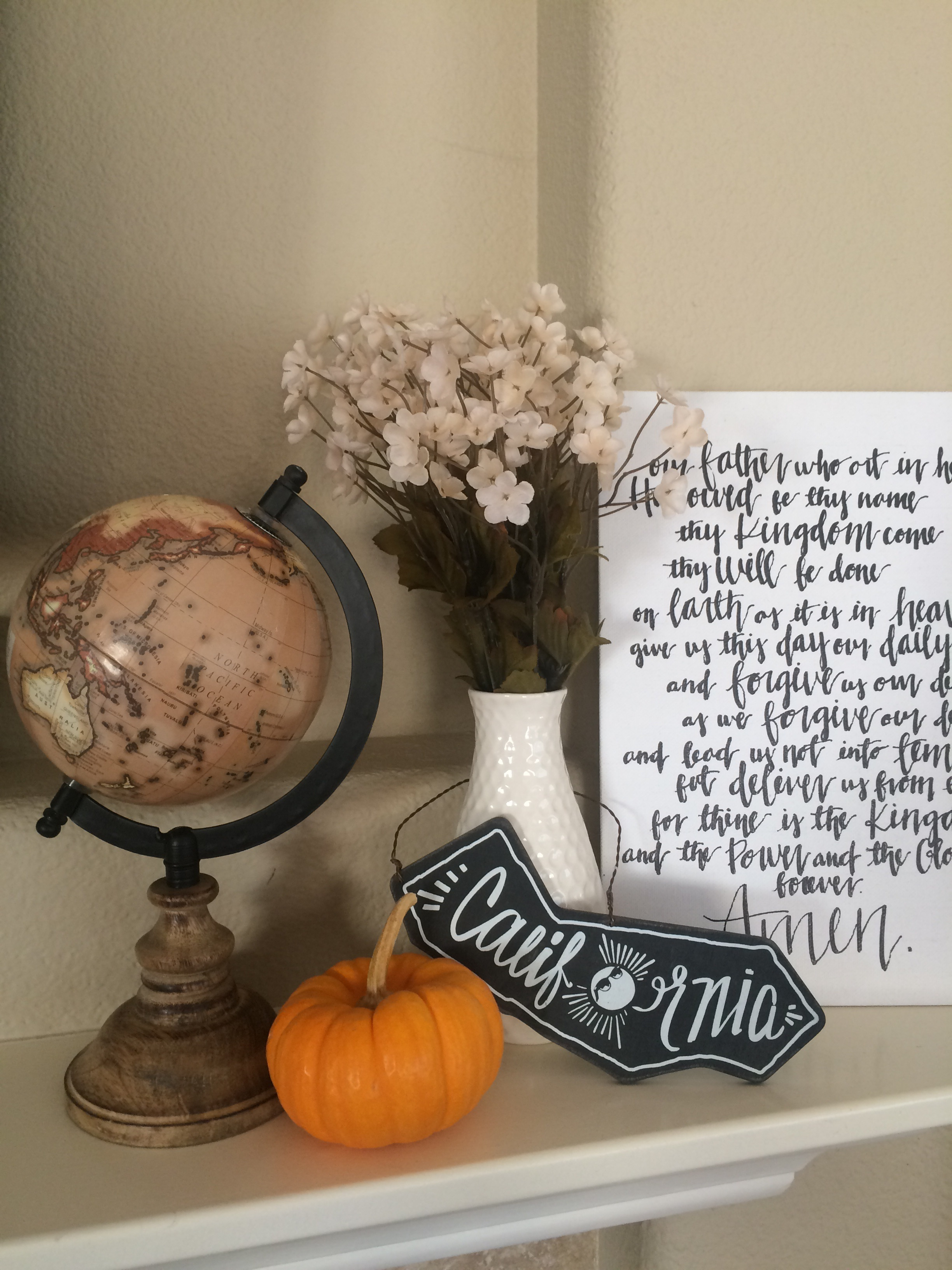 Some fall decor is making an appearance at our house.