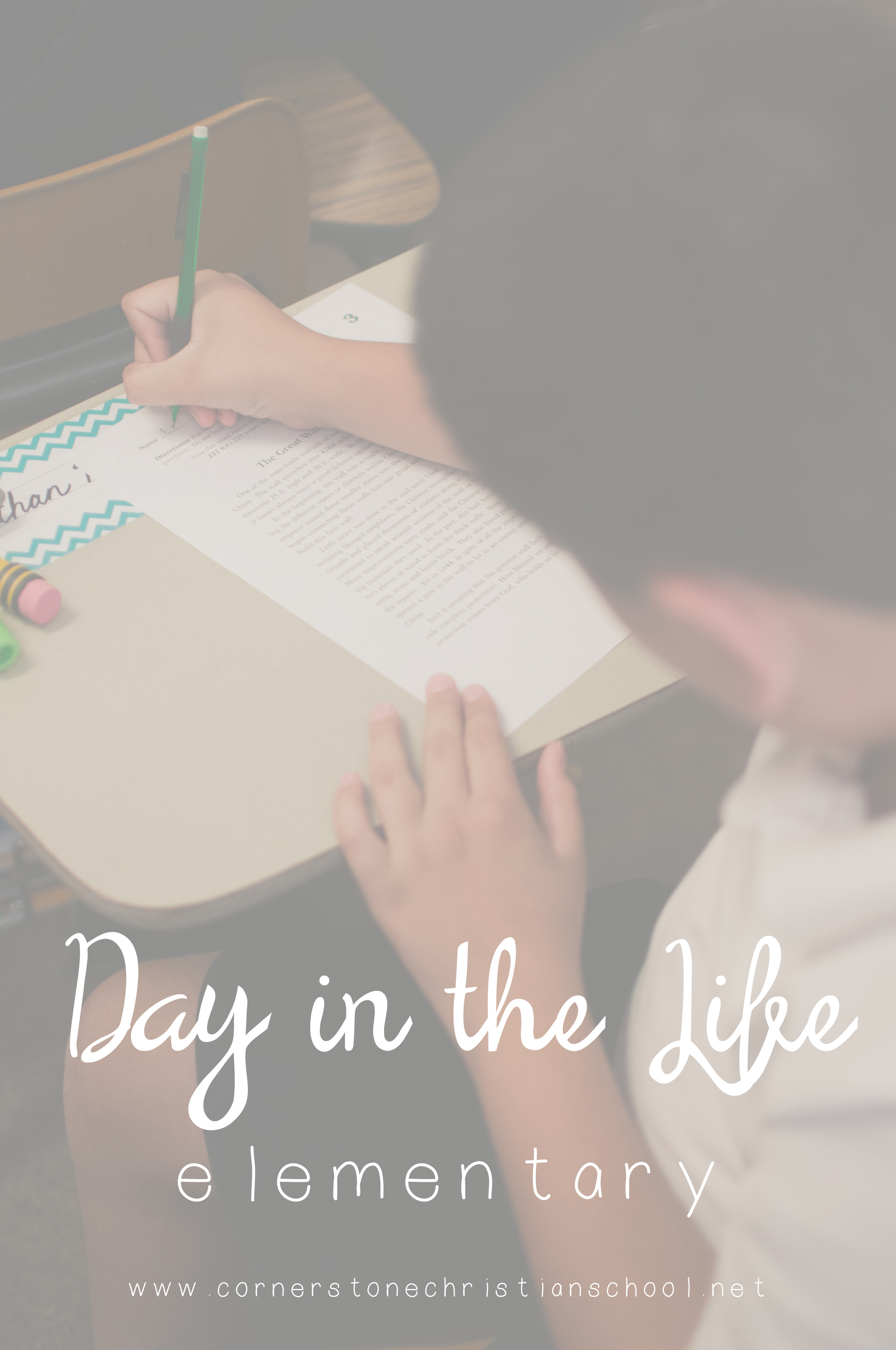 A Day in the Life of an Elementary Student // Cornerstone Christian School