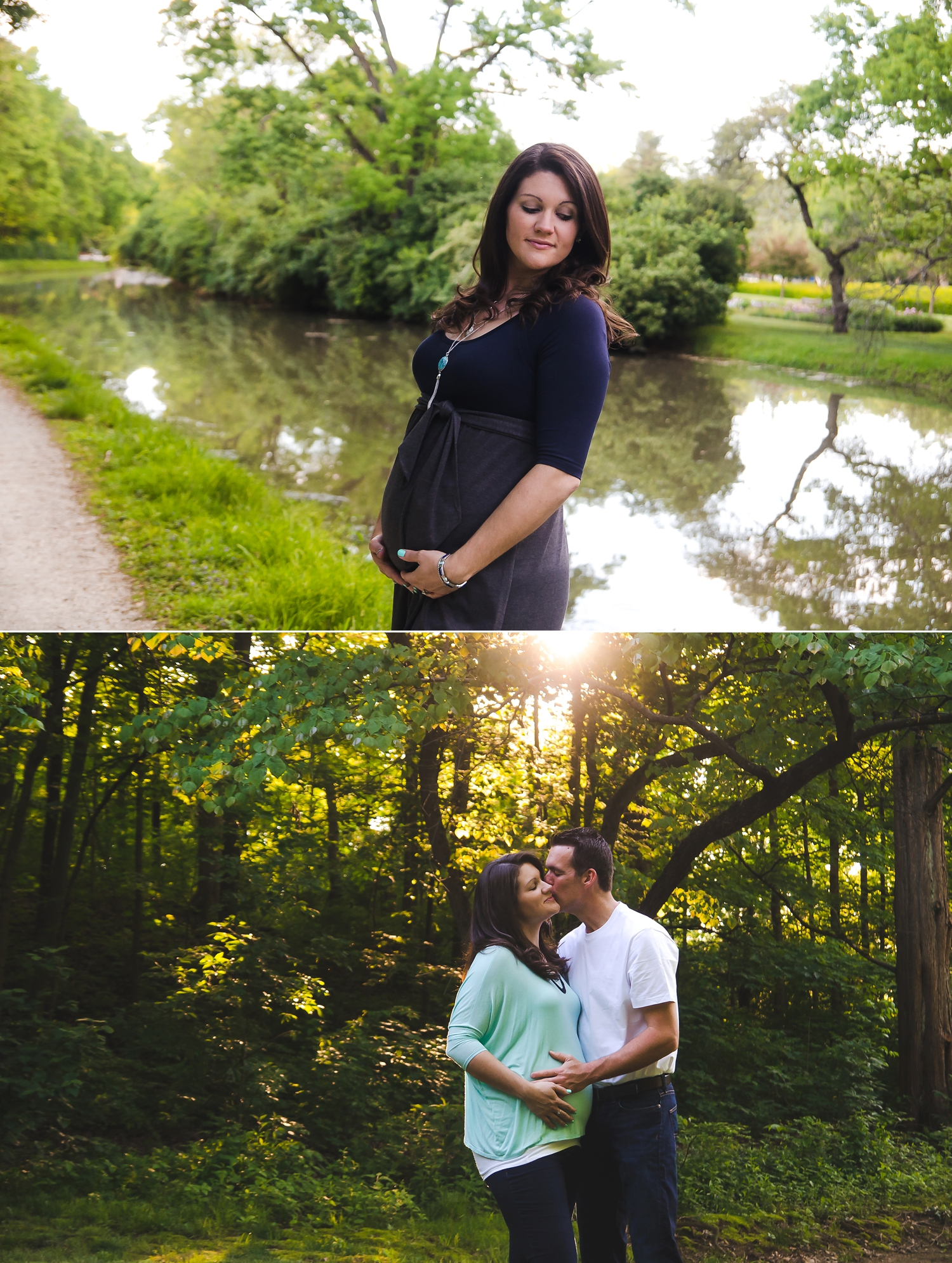 Maternity photos at an outdoor location in Indianapolis.