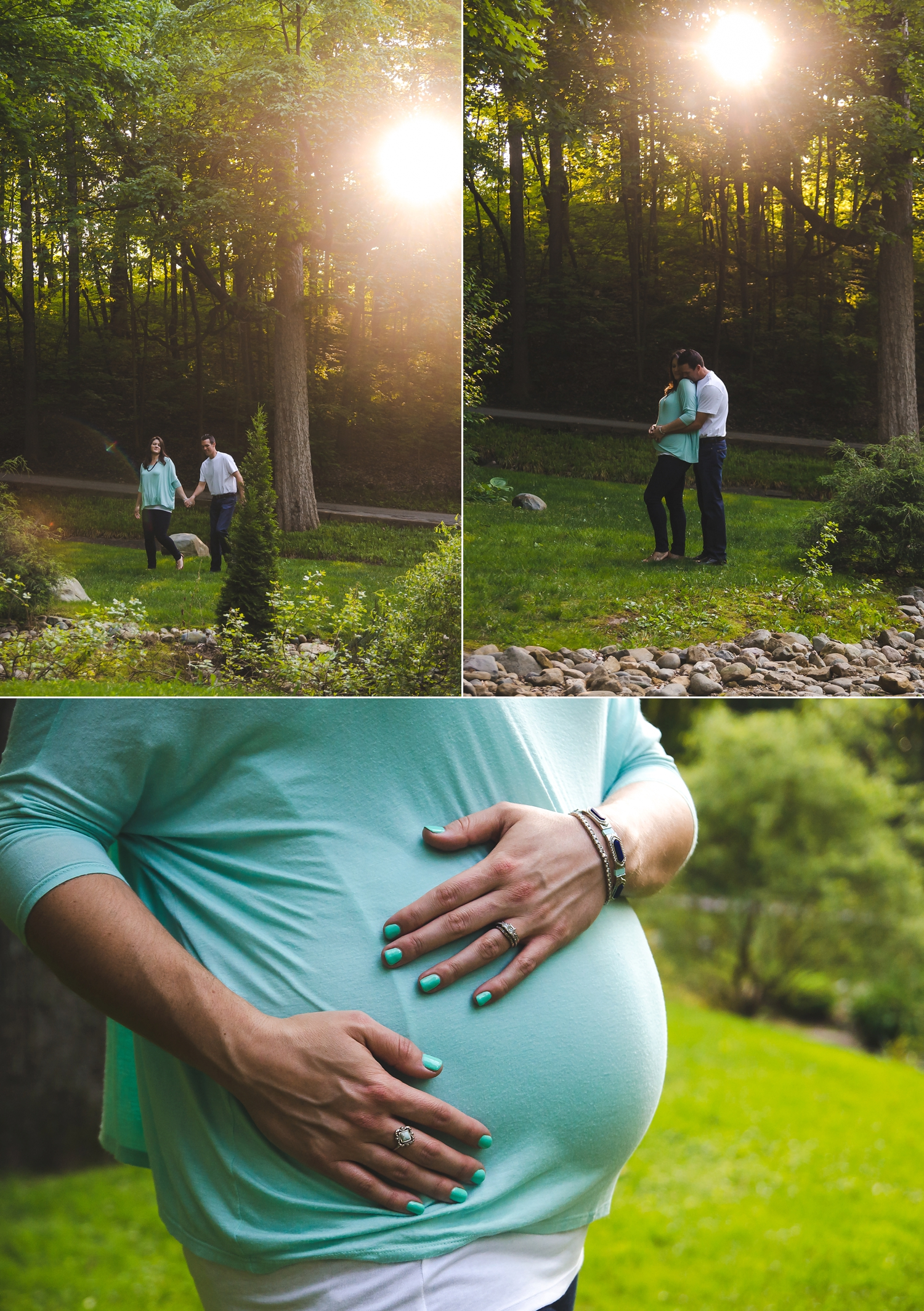 Maternity pictures in the woods near Indianapolis, IN.