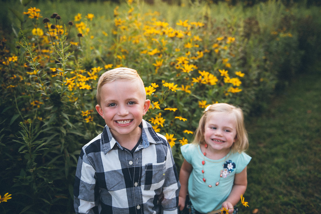 kids smile for the camera during an Indianapolis photography session