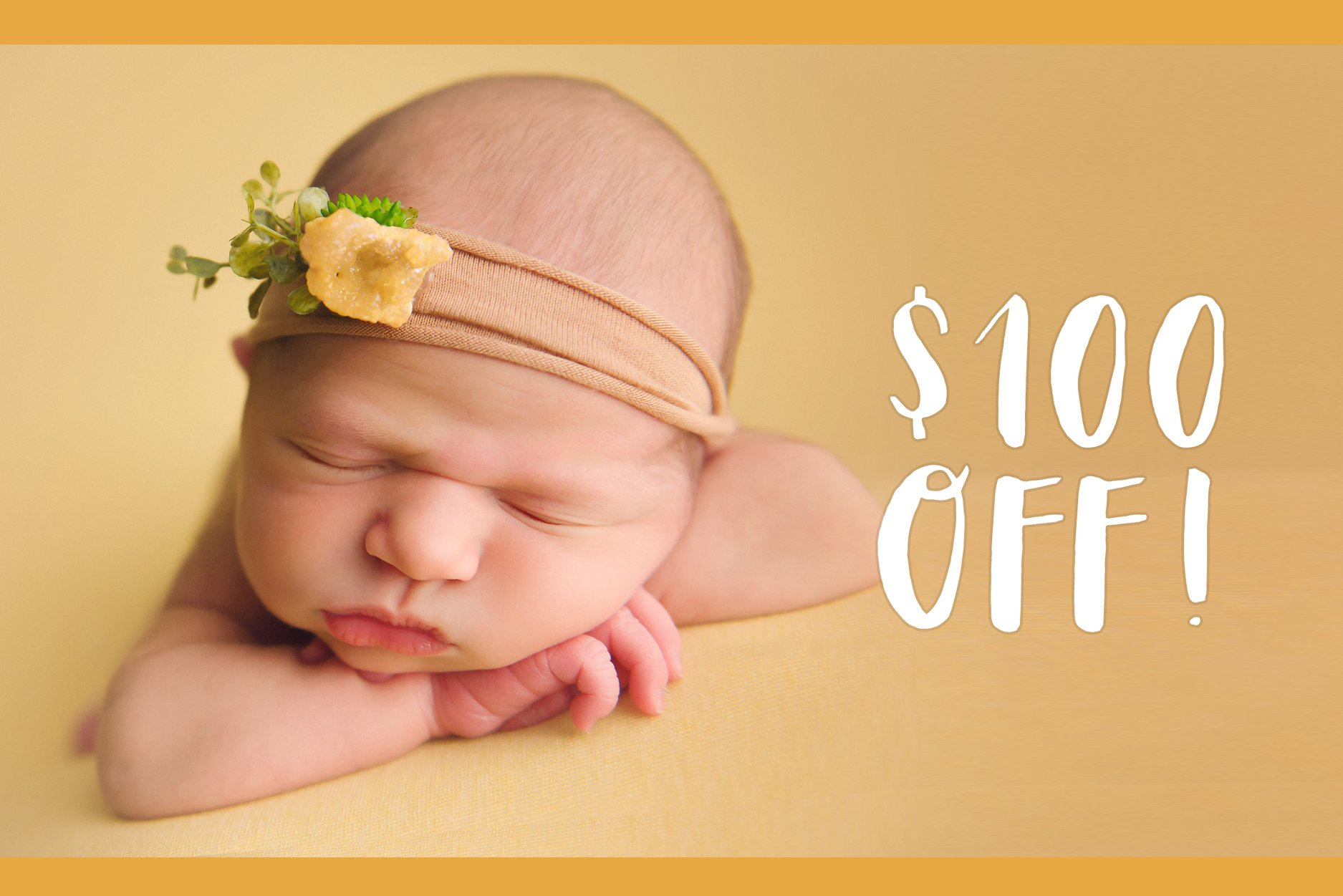 coupon to save on an Indianapolis newborn photography session