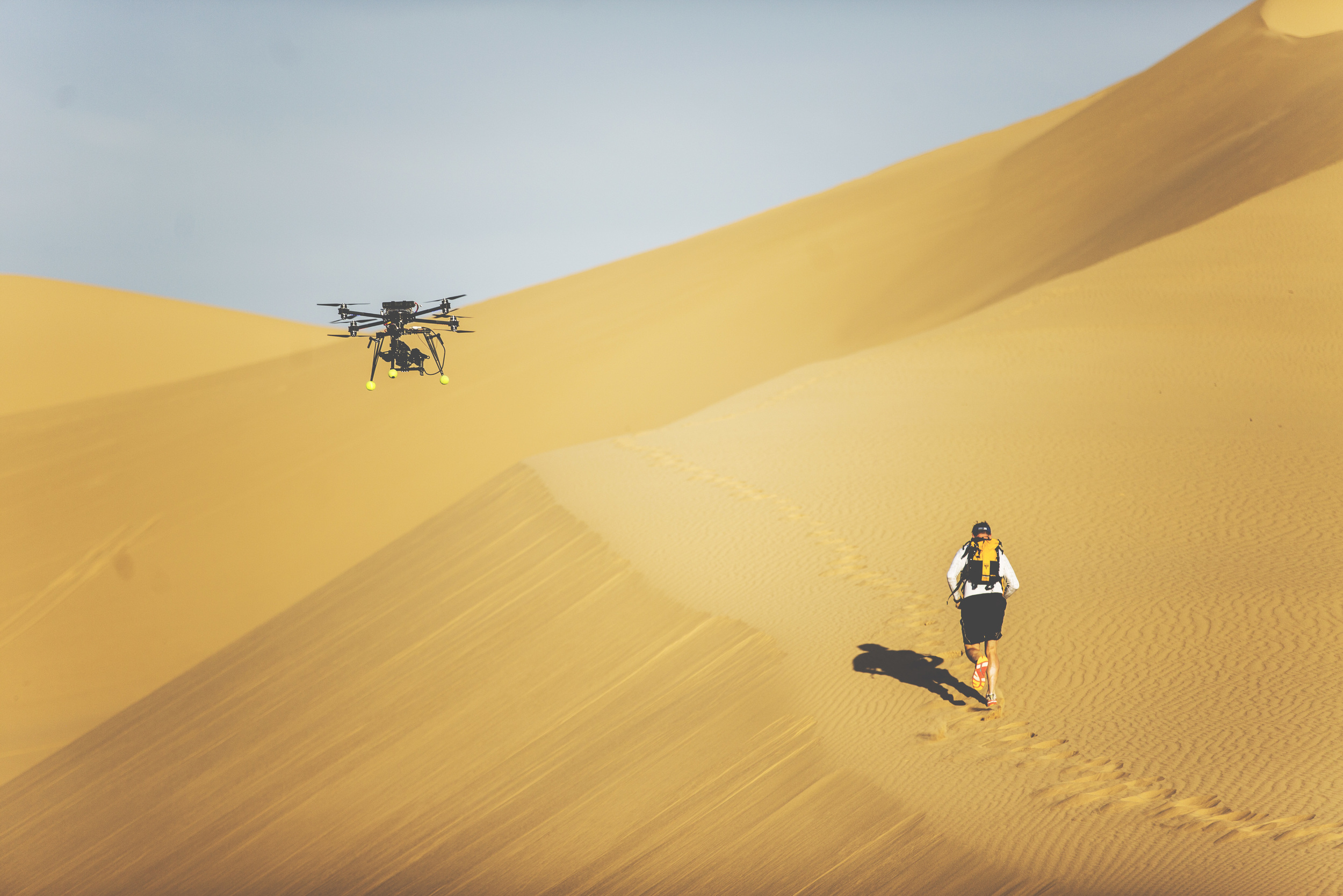 Flying our Cinestar X8 through the desert
