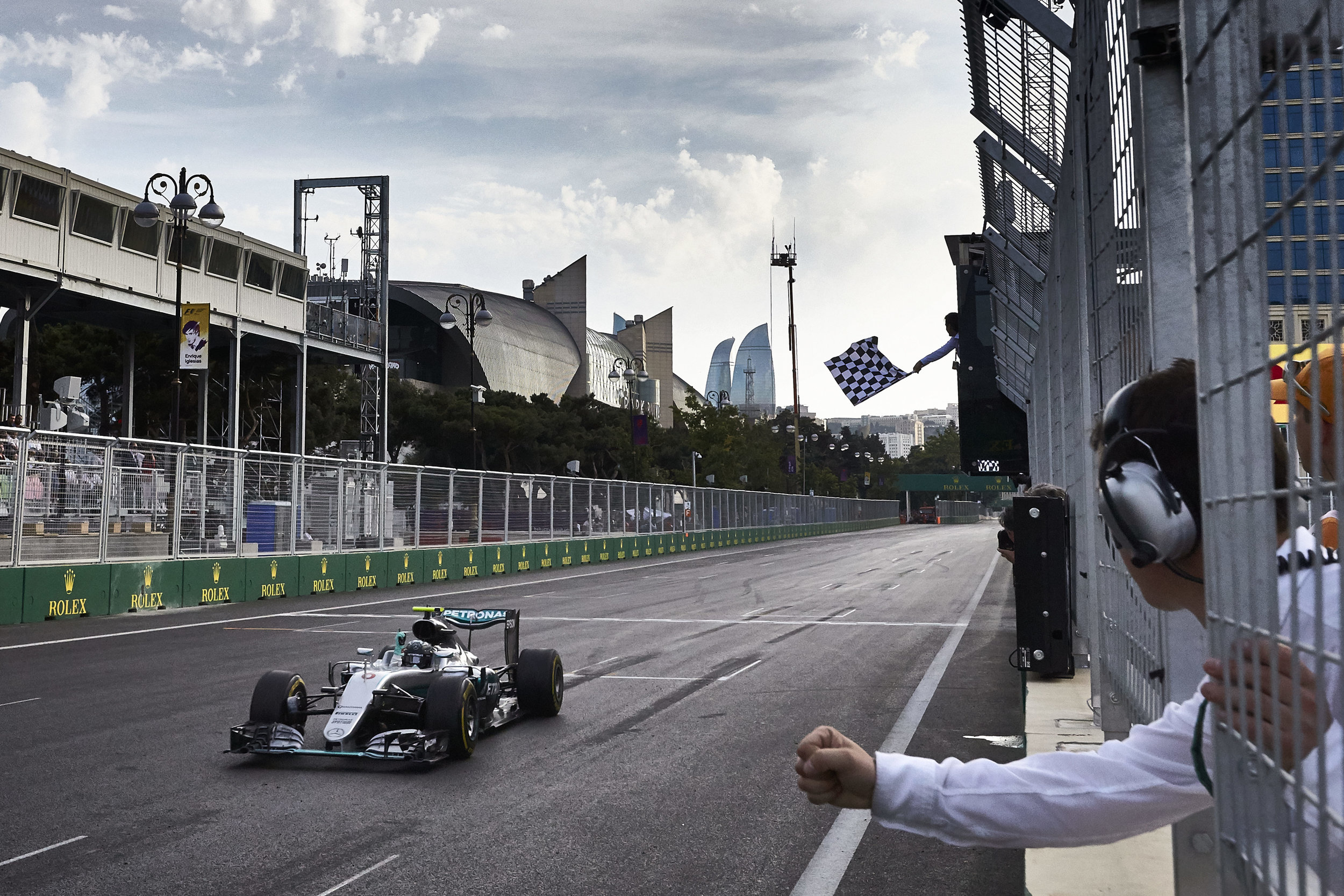 Rosberg wins in Baku. (Pic: Mercedes)