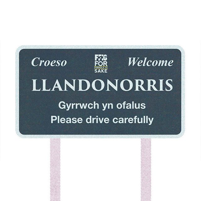 Welcome to the lovely quaint welsh town of llandonorris. Please drive carefully and thank you for visiting.  Buy the T-shirt now! Link in bio  #f1 #formulaone #formula1 #landonorris #mclaren #podcast @landonorris