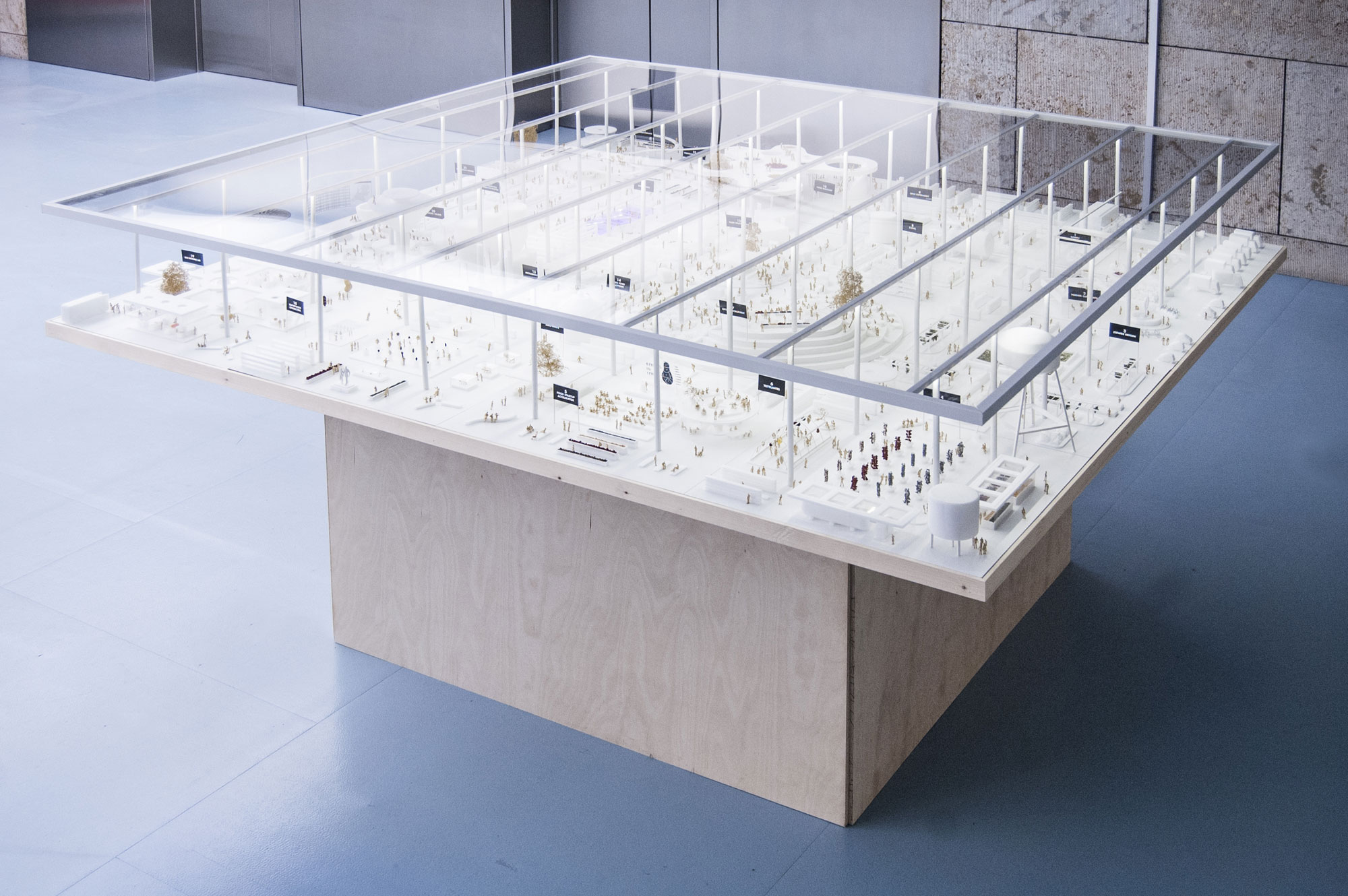 The Open Food Lab model during the Volksvlijt exhibition in the Amsterdam Public Library