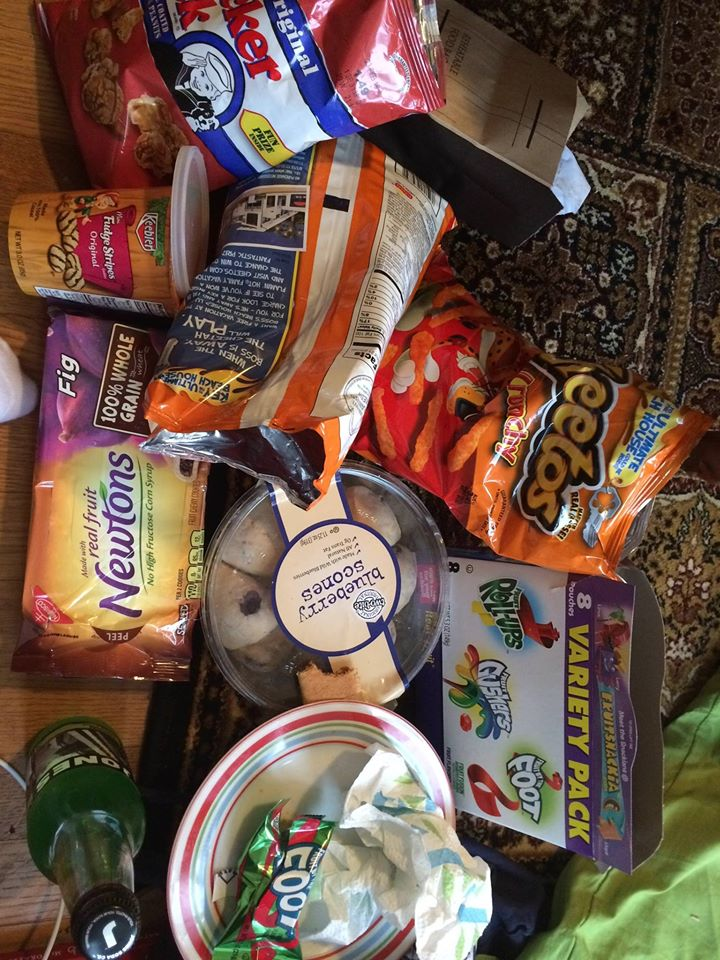 """They made me try """"American snacks""""...at least there was no spray on cheese..."""