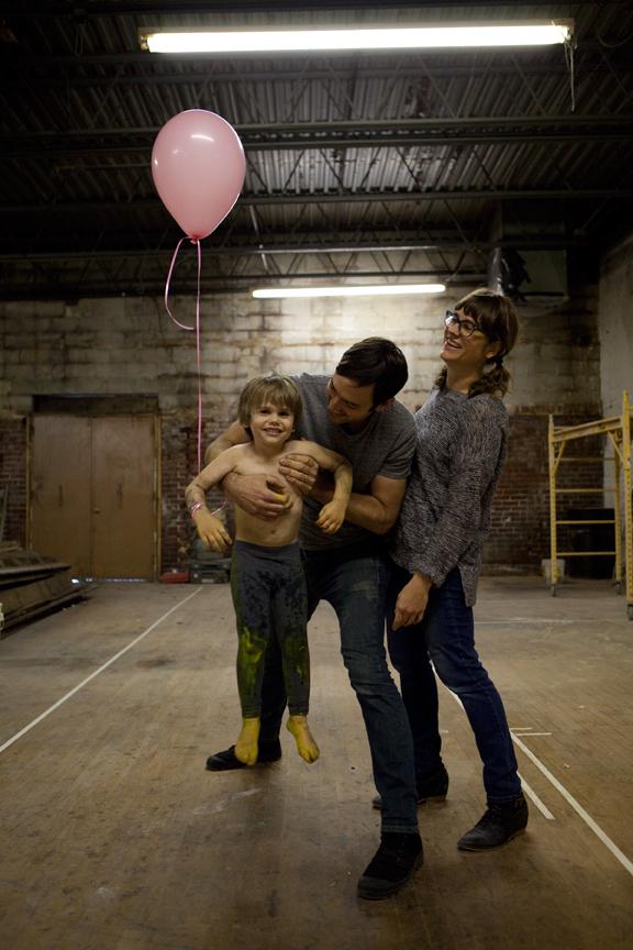 Owners, Krista Yutzy-Burkey and Steve Yutzy-Burkey and son, Milo.