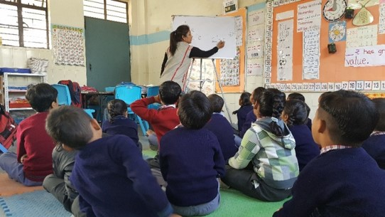 Phonics lesson in progress in a Peepul classroom, Delhi