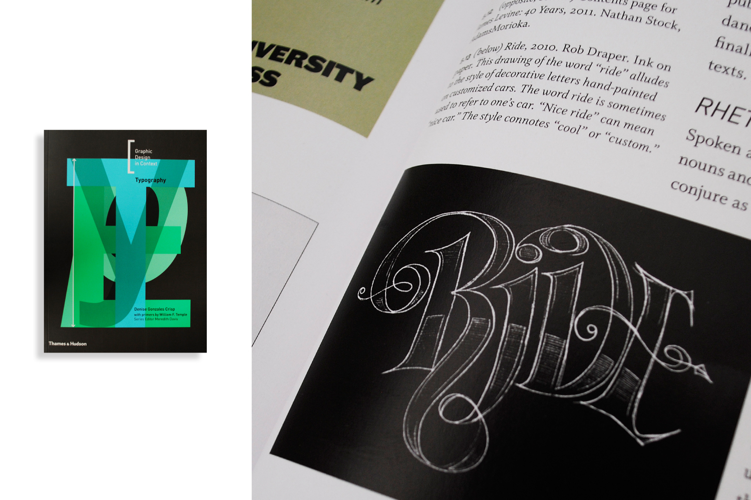 A selection of work featured in Thames & Hudsons 'Graphic Design in Context- Typography'