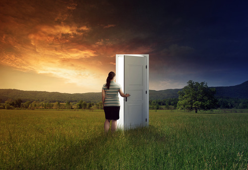 "In trials, it is difficult to find the ""door"" through which God wants us to move. Satan does not want us to find God's doors."