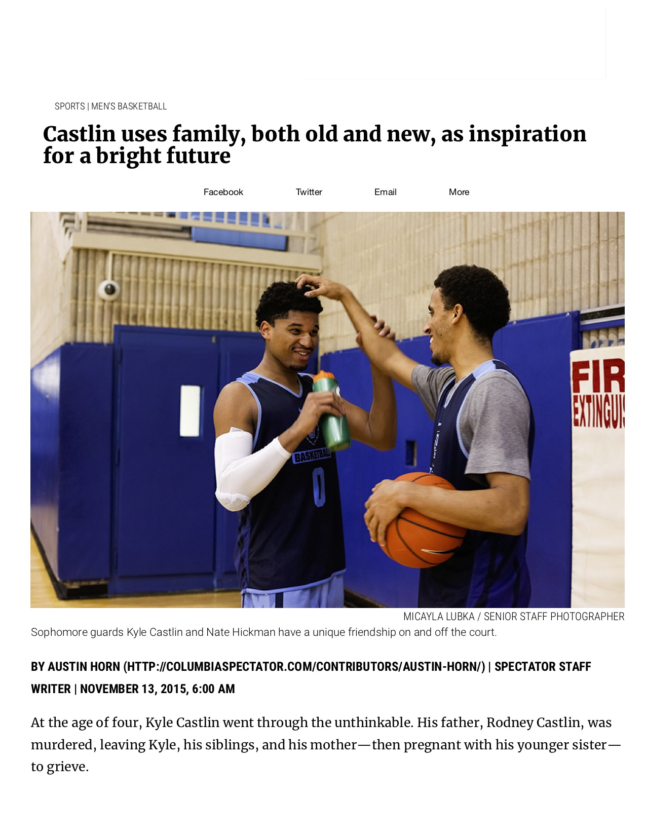 Castlin uses family, both old and new, ...ight future - Columbia Daily Spectator.jpg