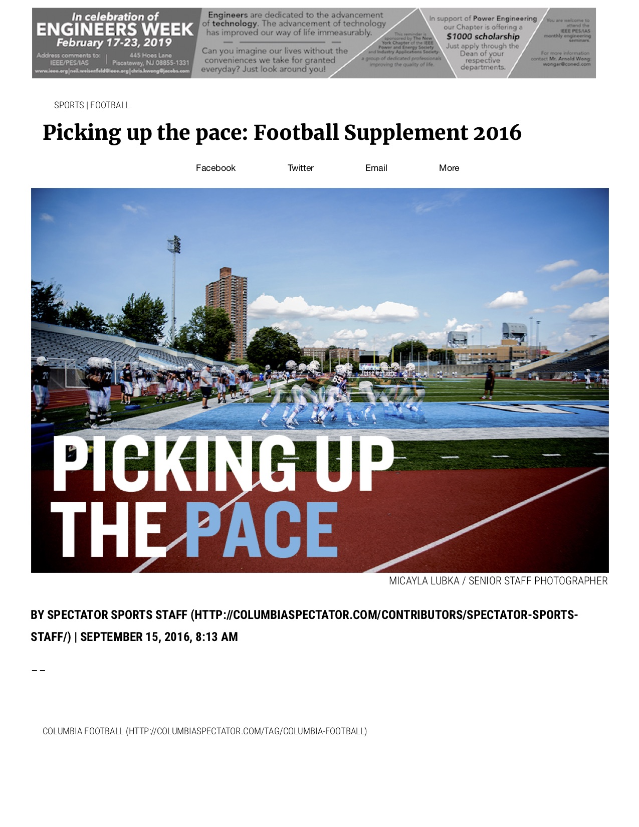 Picking up the pace- Football Supplement 2016 - Columbia Daily Spectator.jpg