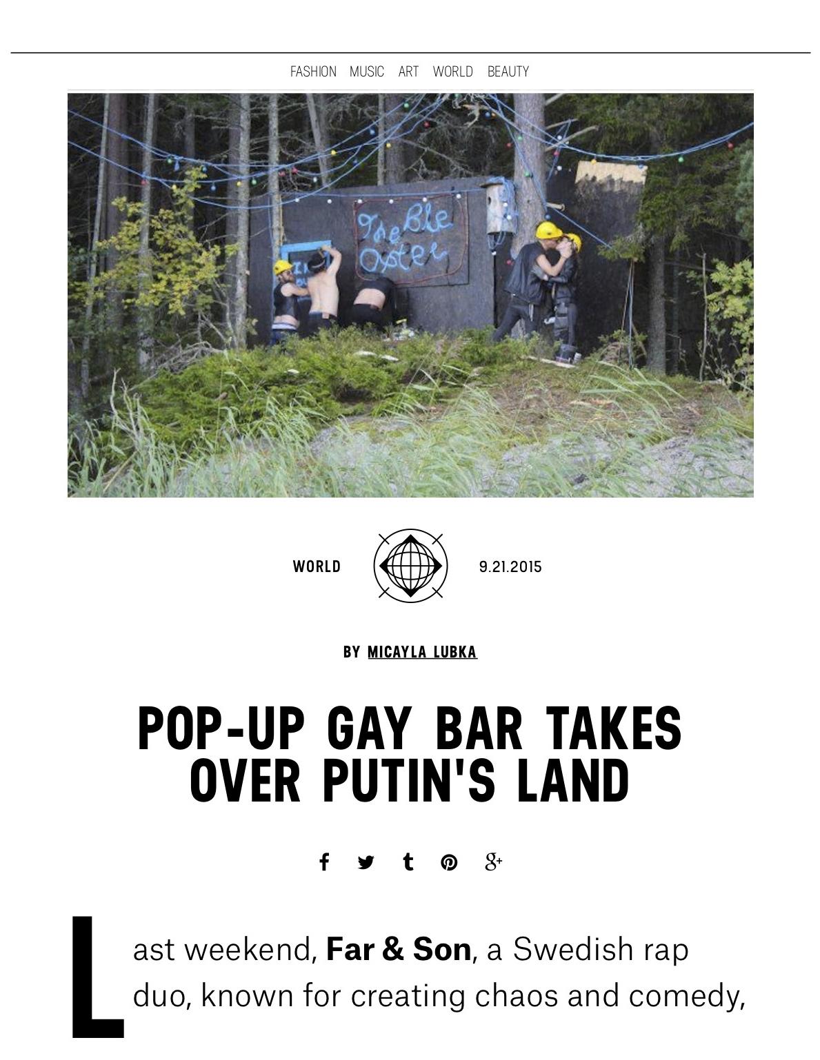 Pop-Up Gay Bar Takes Over Putin's Land | Milk.jpg