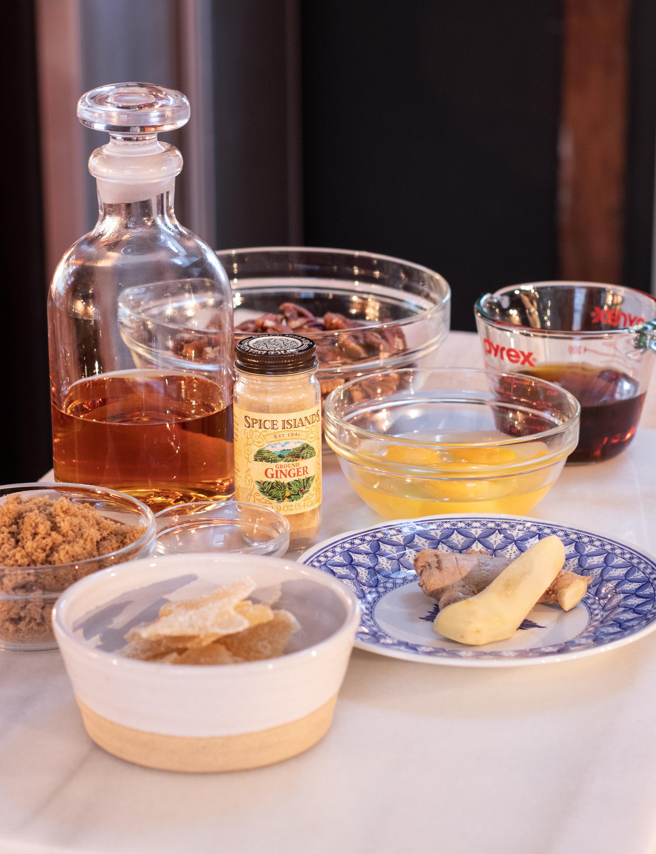 Bourbon Pecan Pie Ingredients