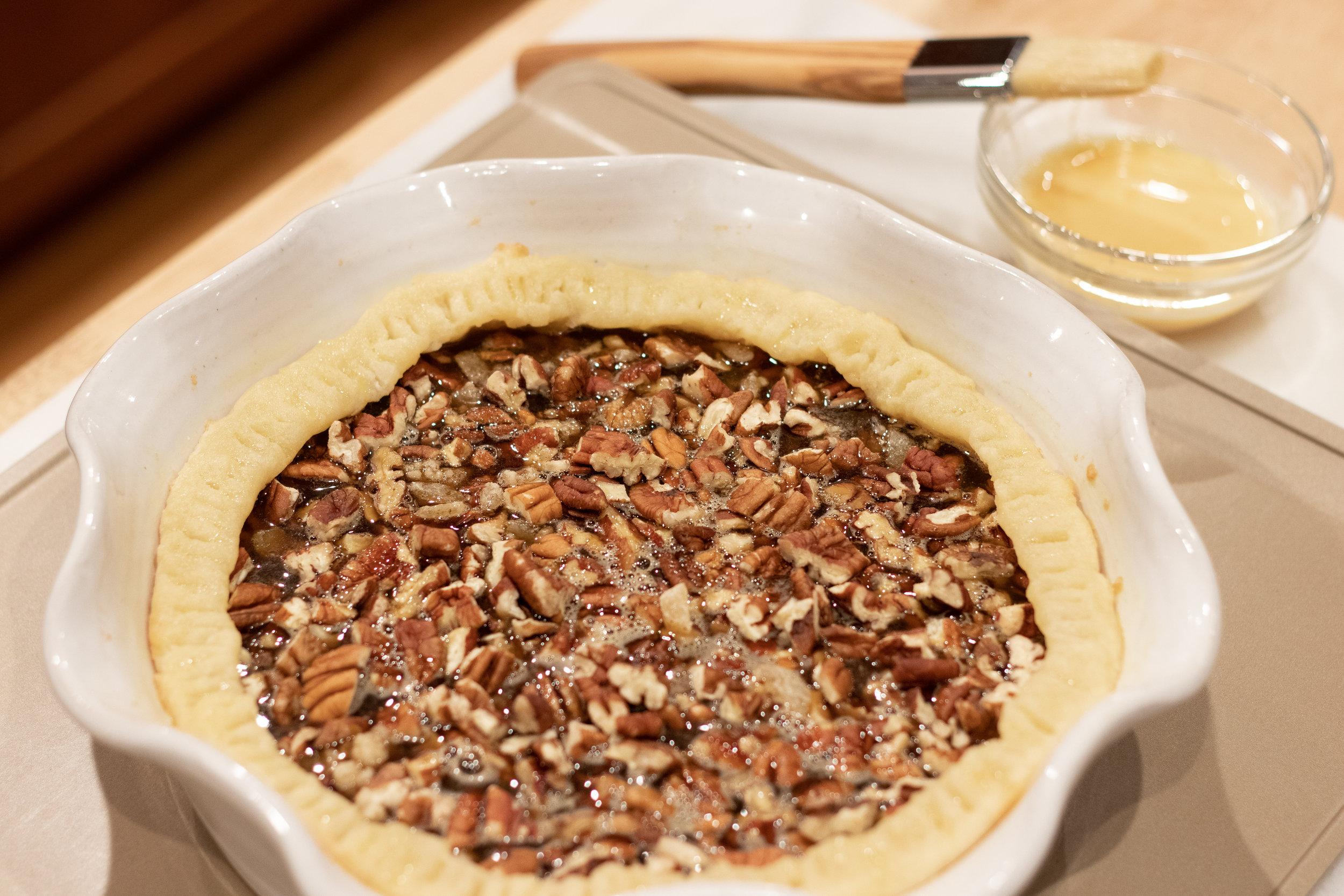 Maple Bourbon Pecan Pie Filling