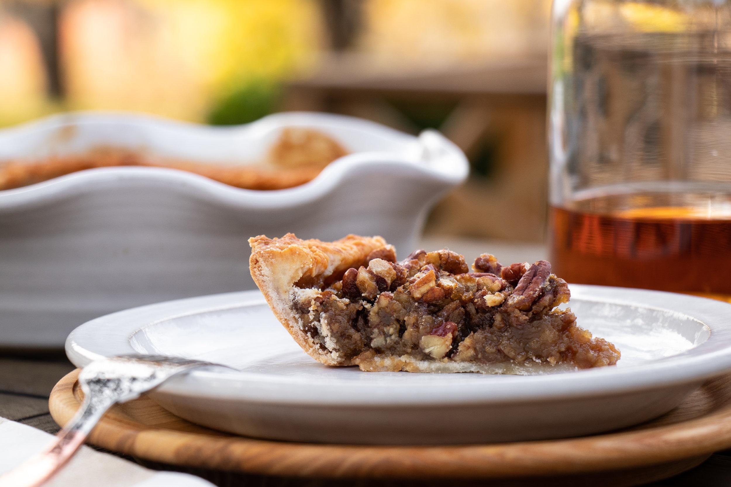 Bourbon-Ginger-Pecan Pie Slice