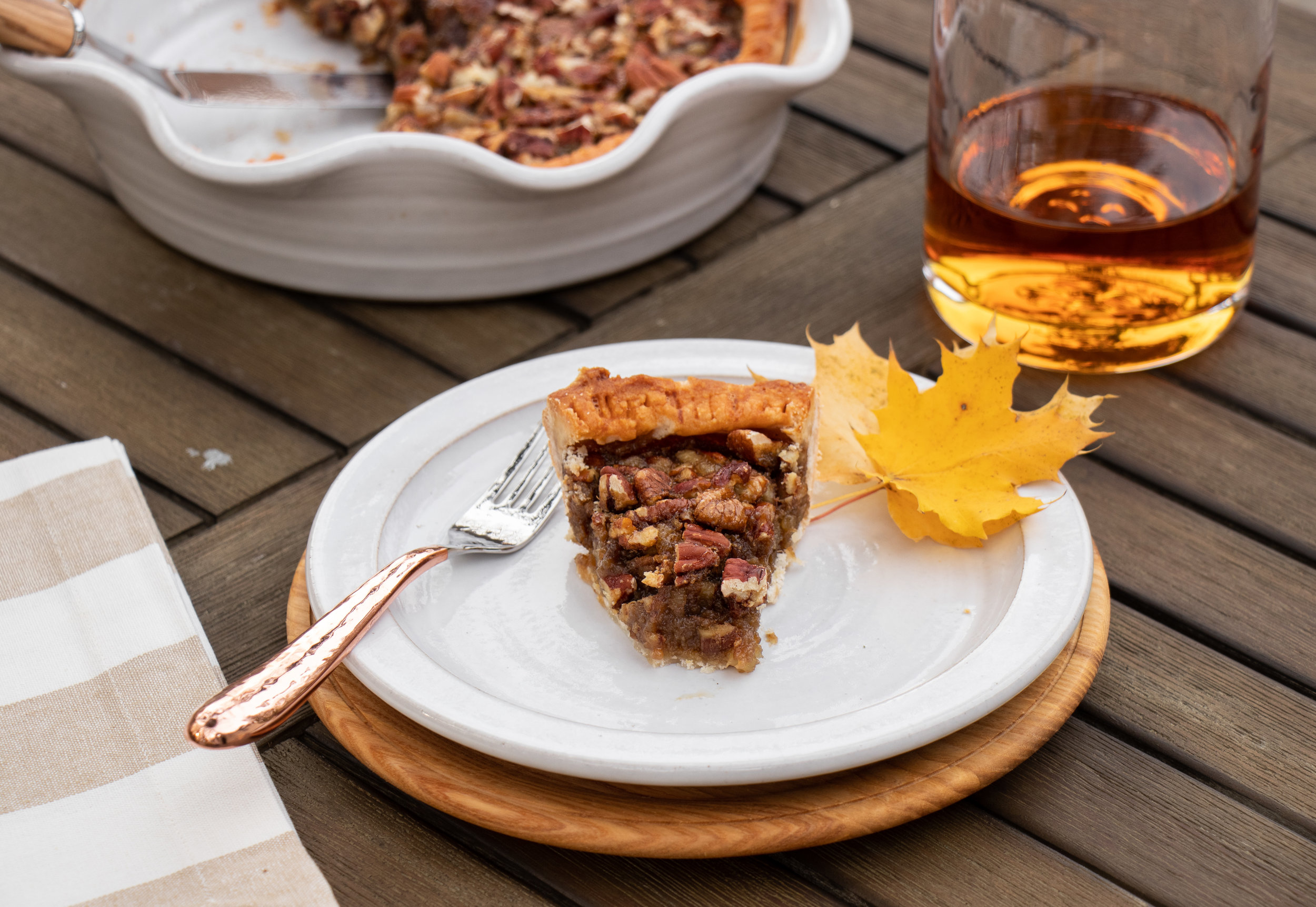 First Prize Pies Maple Bourbon-Ginger Pecan Pie Slice_Fall_Thanksgiving-Dessert