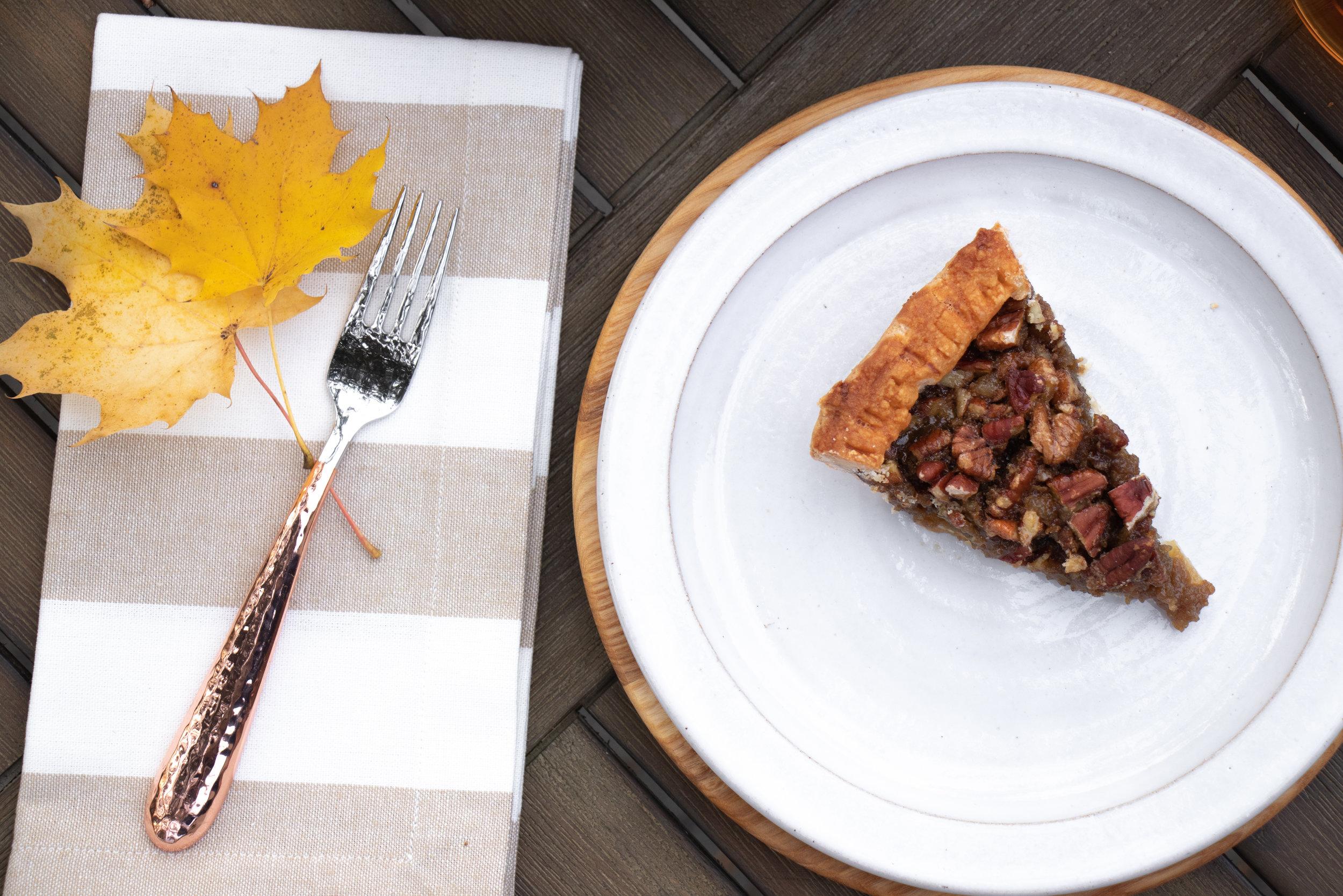 Fall_Thanksgiving Dessert_First Prize Pies_Manple Bourbon-Ginger-Pecan Pie Slice